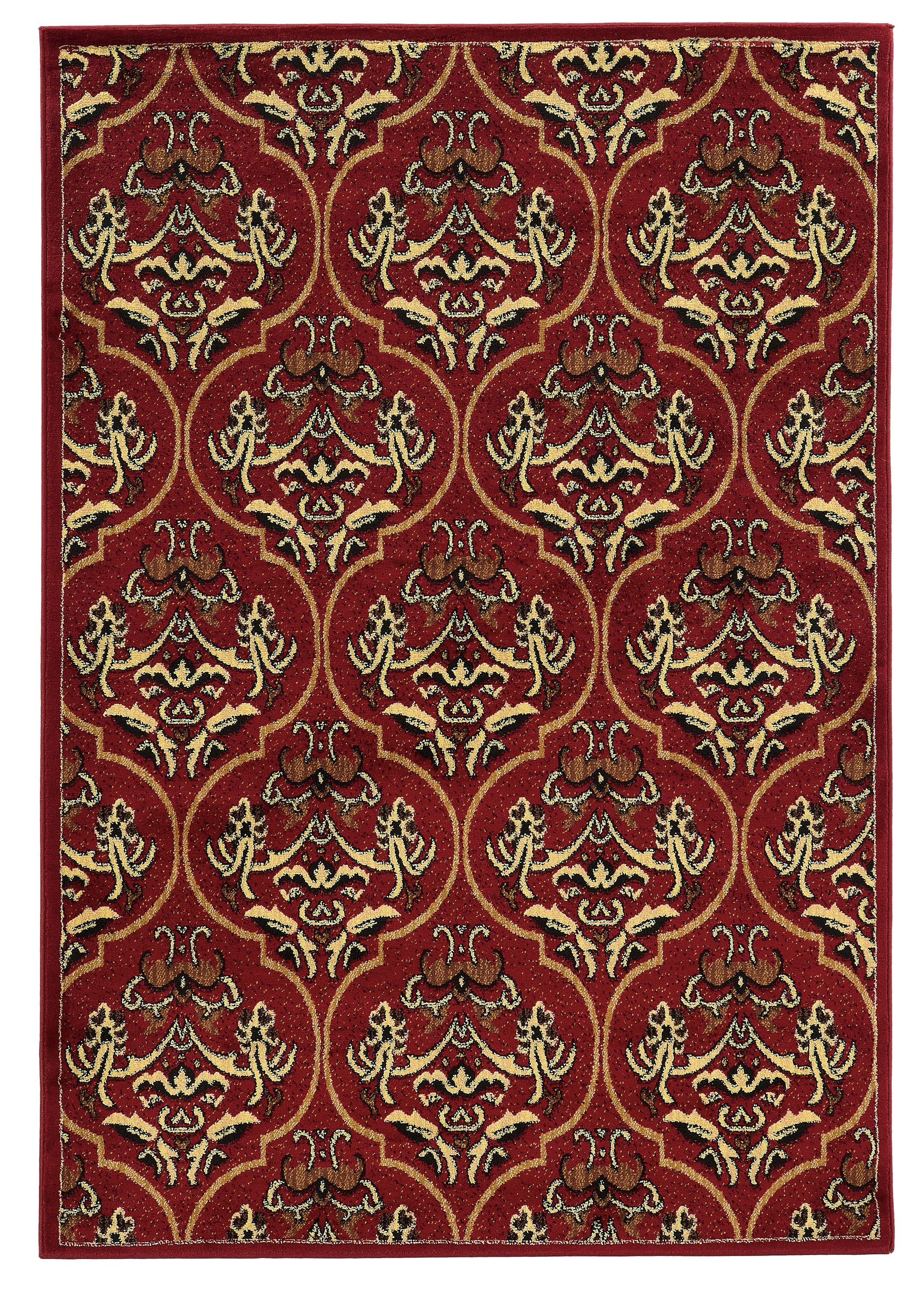 Bloomingdale Red Area Rug Rug Size: Rectangle 5' x 7'