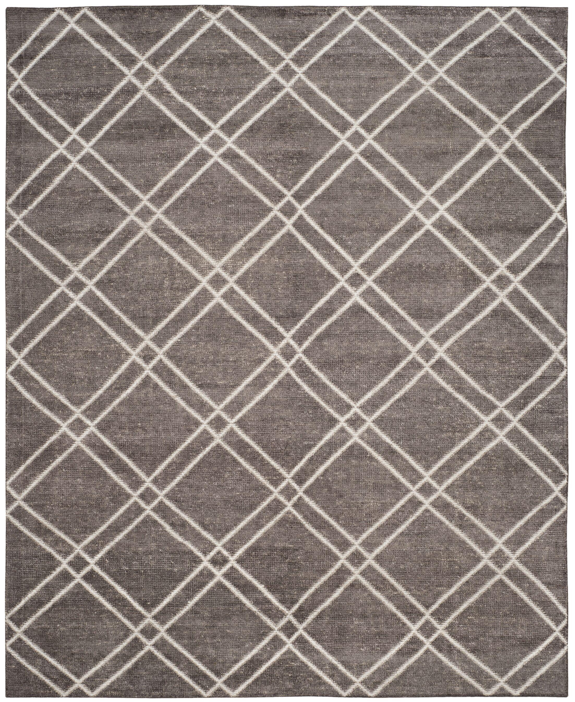 Bradenton Hand-Knotted Dark Gray Area Rug Rug Size: Rectangle 5' x 8'