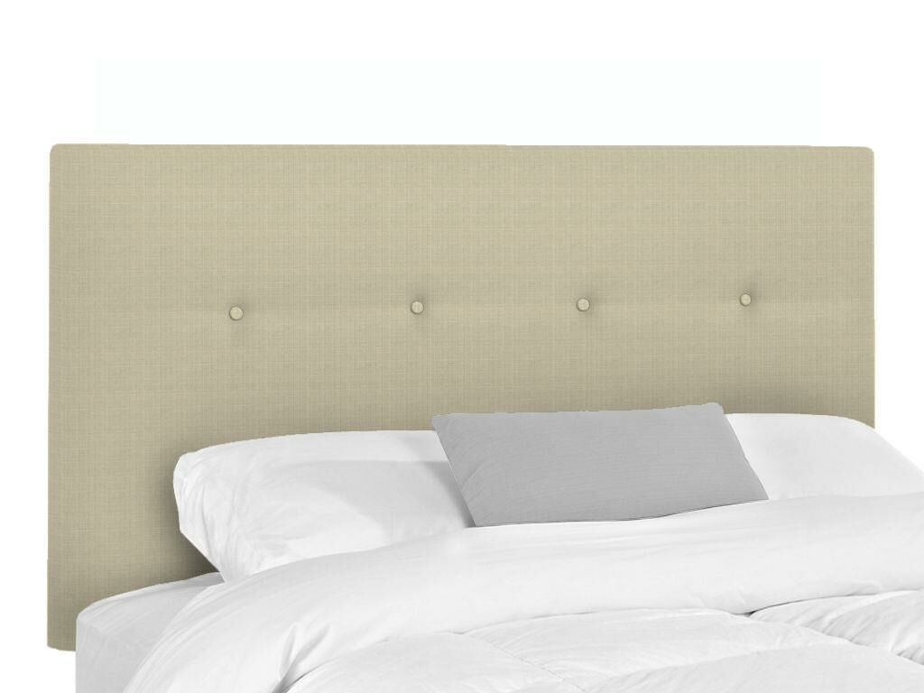 Bramblecrest Upholstered Panel Headboard Upholstery: Flax, Size: Twin