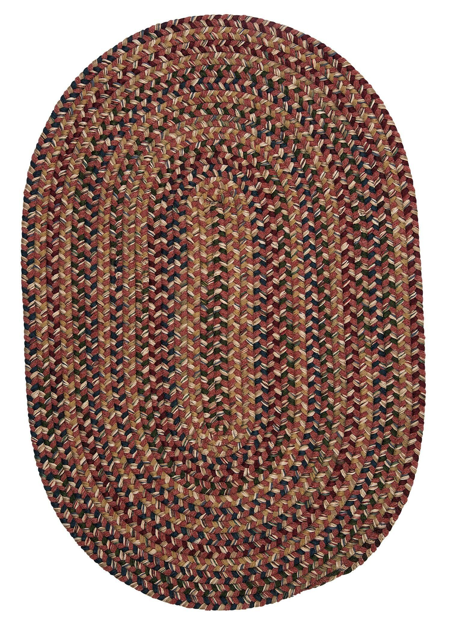 Greenlaw Rosewood Area Rug Rug Size: Oval 3' x 5'