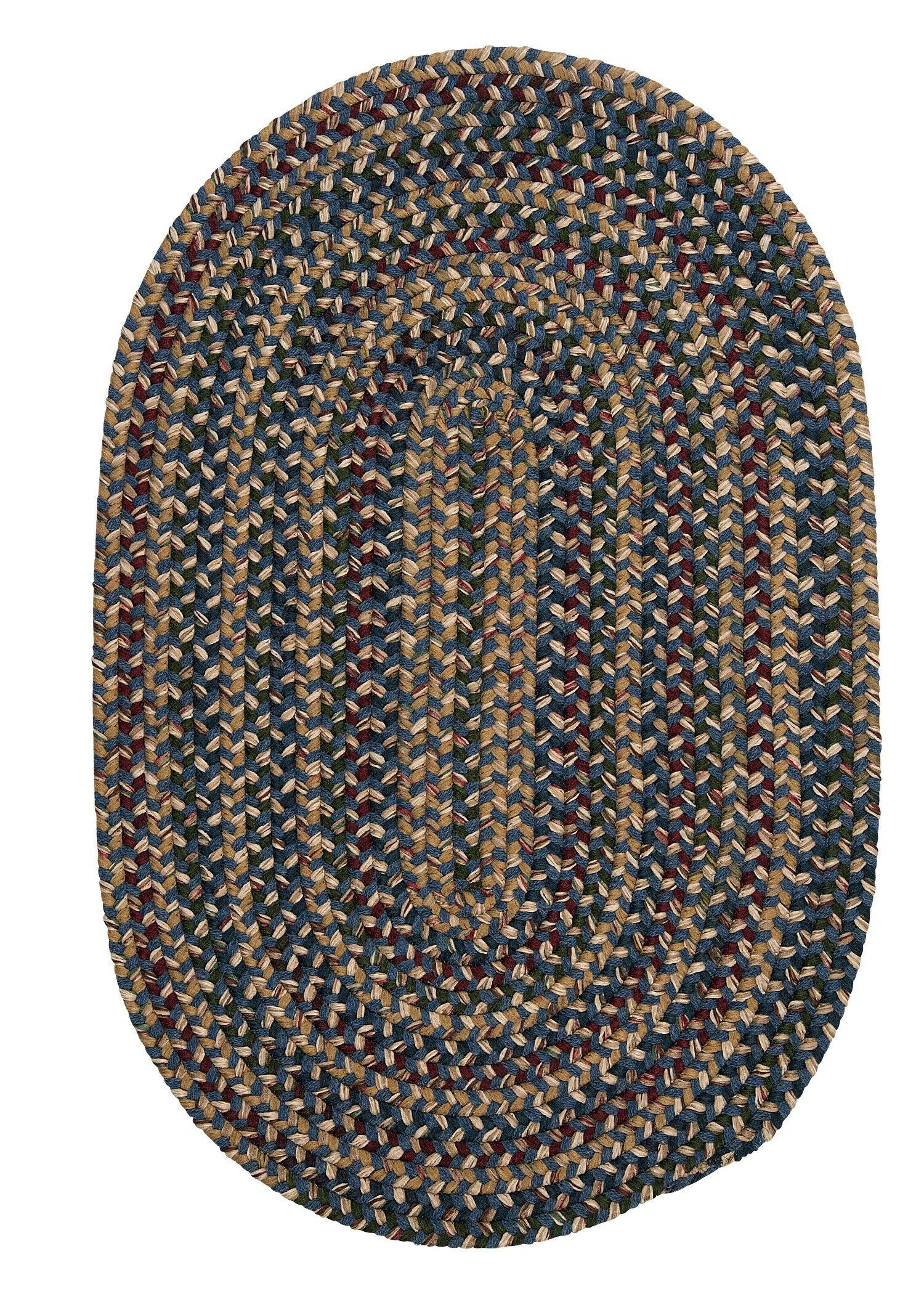 Greenlaw Blue Area Rug Rug Size: Oval 12' x 15'