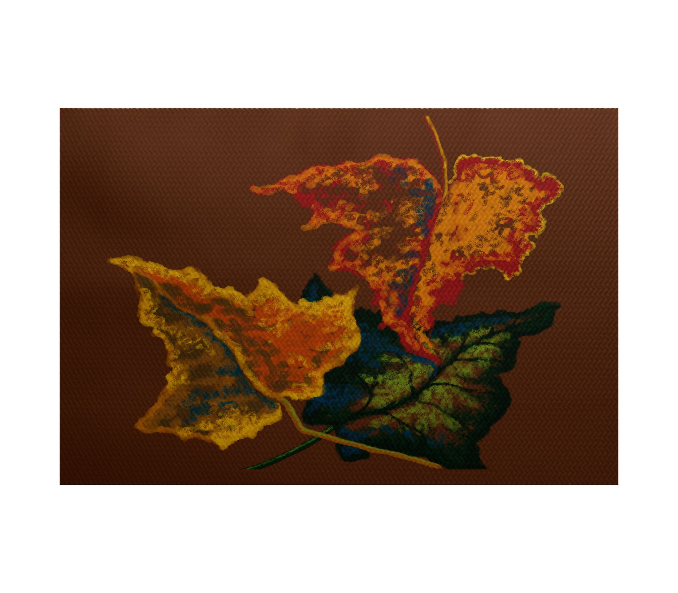 Aegean Flower Print Brown Outdoor Indoor/Outdoor Area Rug Rug Size: Rectangle 3' x 5'