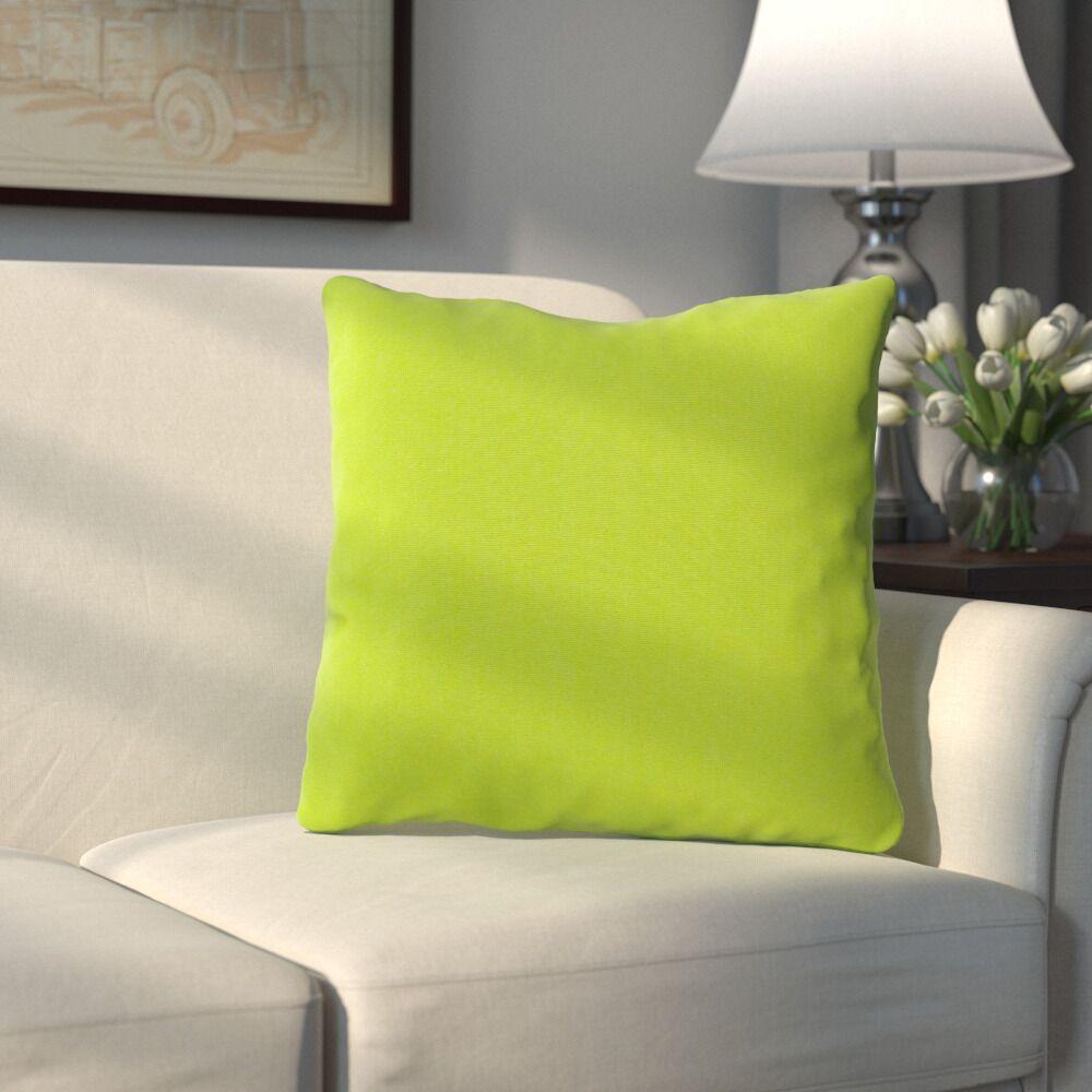 Bonniview Canvas Indoor/Outdoor Sunbrella Throw Pillow Color: Ginkgo Green