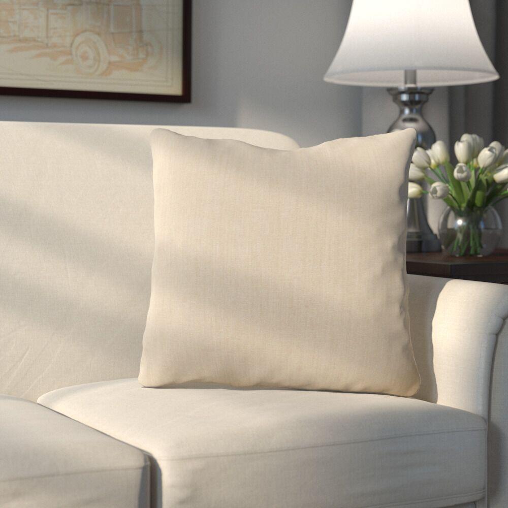 Bonniview Canvas Indoor/Outdoor Sunbrella Throw Pillow Color: Antique Beige