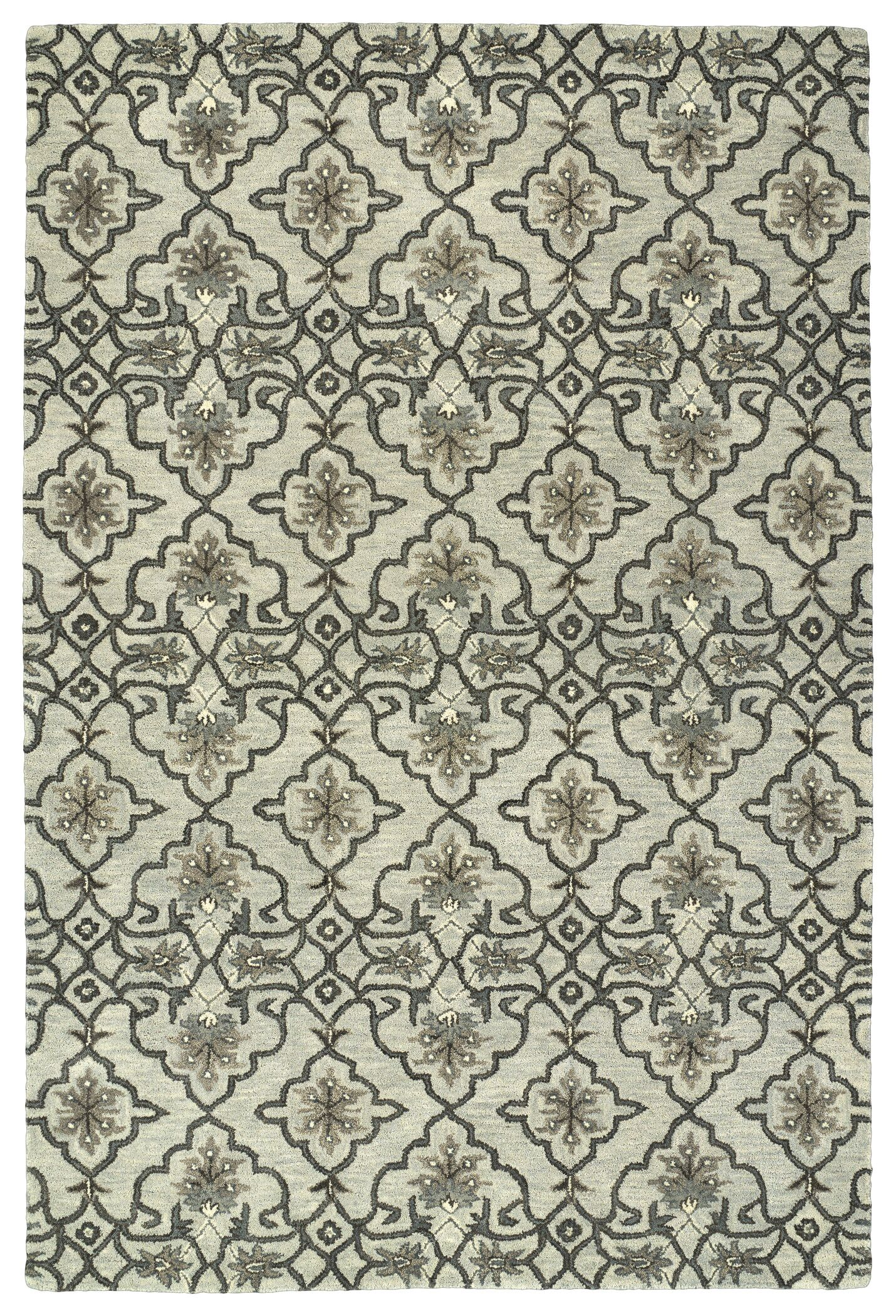 Fischer Hand-Tufted Mint Area Rug Rug Size: Rectangle 4' x 6'