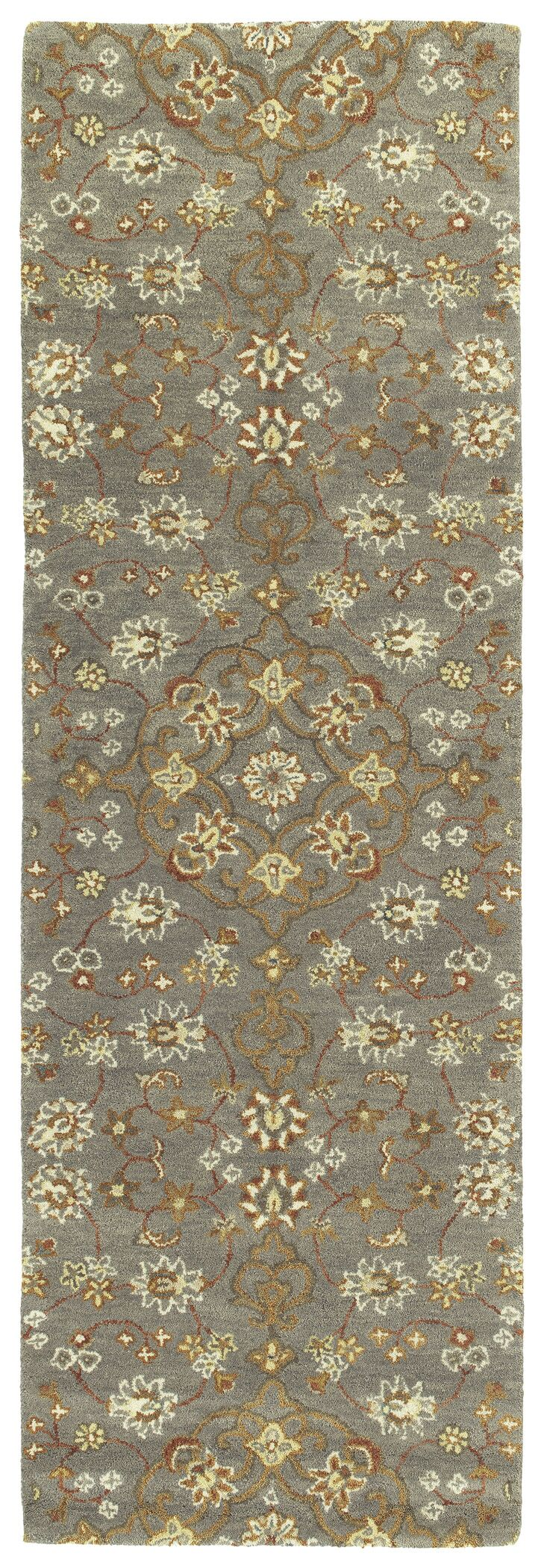 Fischer Hand-Tufted Pewter Green Area Rug Rug Size: Rectangle 10' x 14'