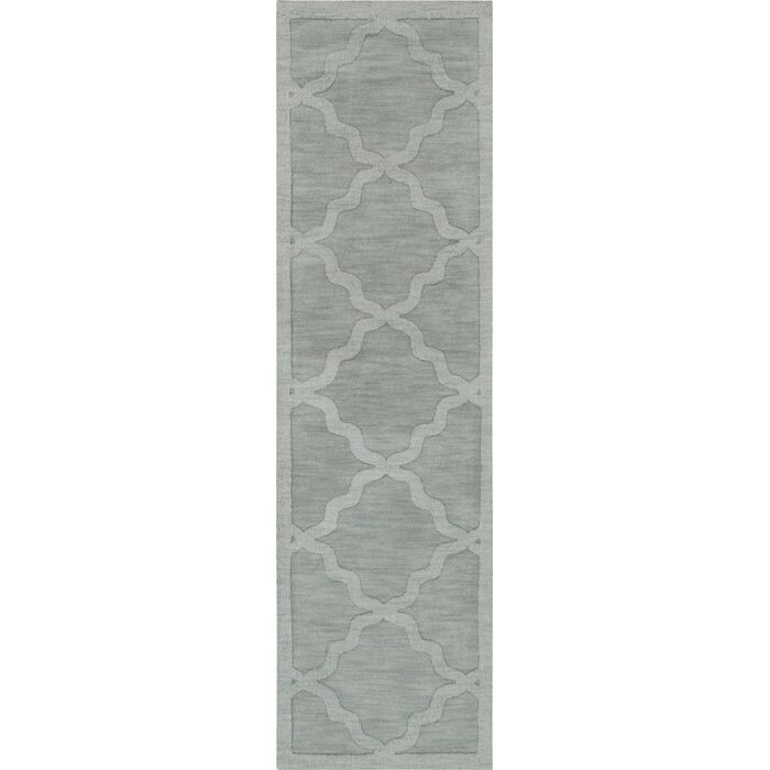 Blankenship Hand Woven Wool Light Blue Area Rug Rug Size: Runner 2'3