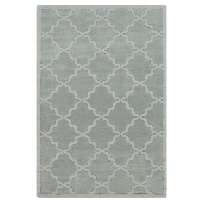 Blankenship Hand Woven Wool Light Blue Area Rug Rug Size: Rectangle 5' x 7'6