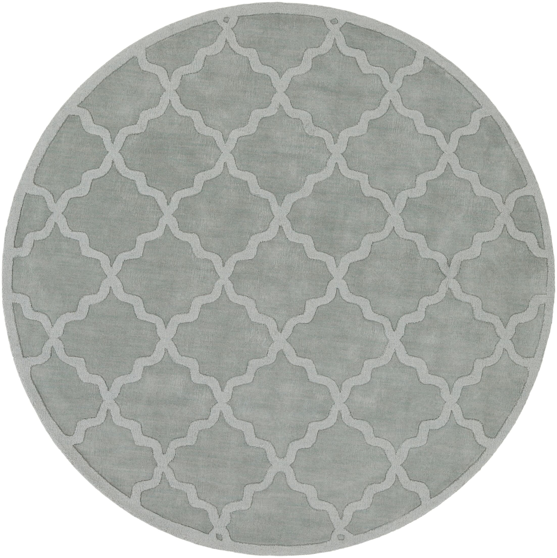 Blankenship Hand Woven Wool Light Blue Area Rug Rug Size: Round 7'9