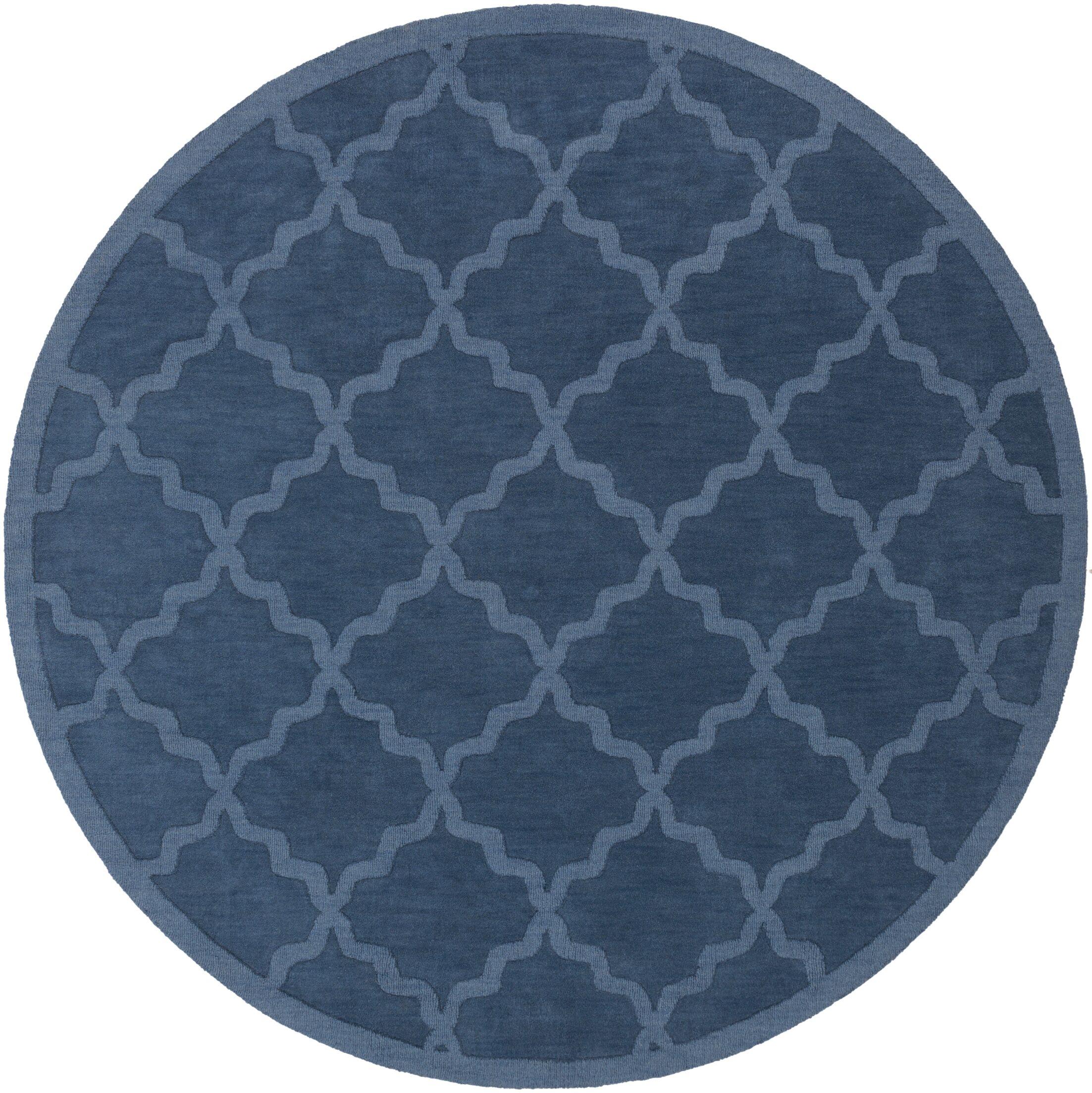 Blankenship Geometric Abbey Area Rug Rug Size: Round 9'9