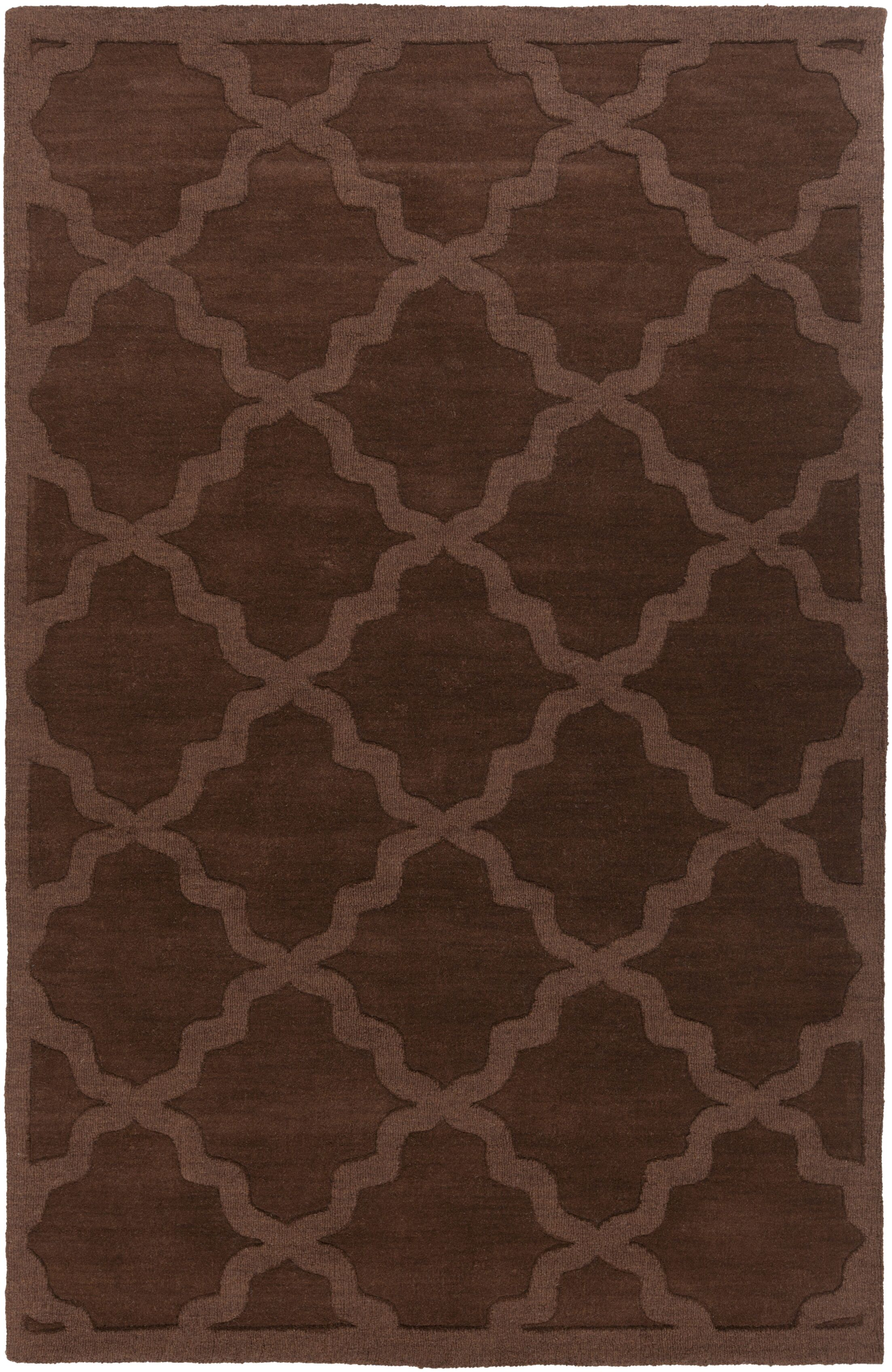 Blankenship Brown Geometric Abbey Area Rug Rug Size: Rectangle 6' x 9'