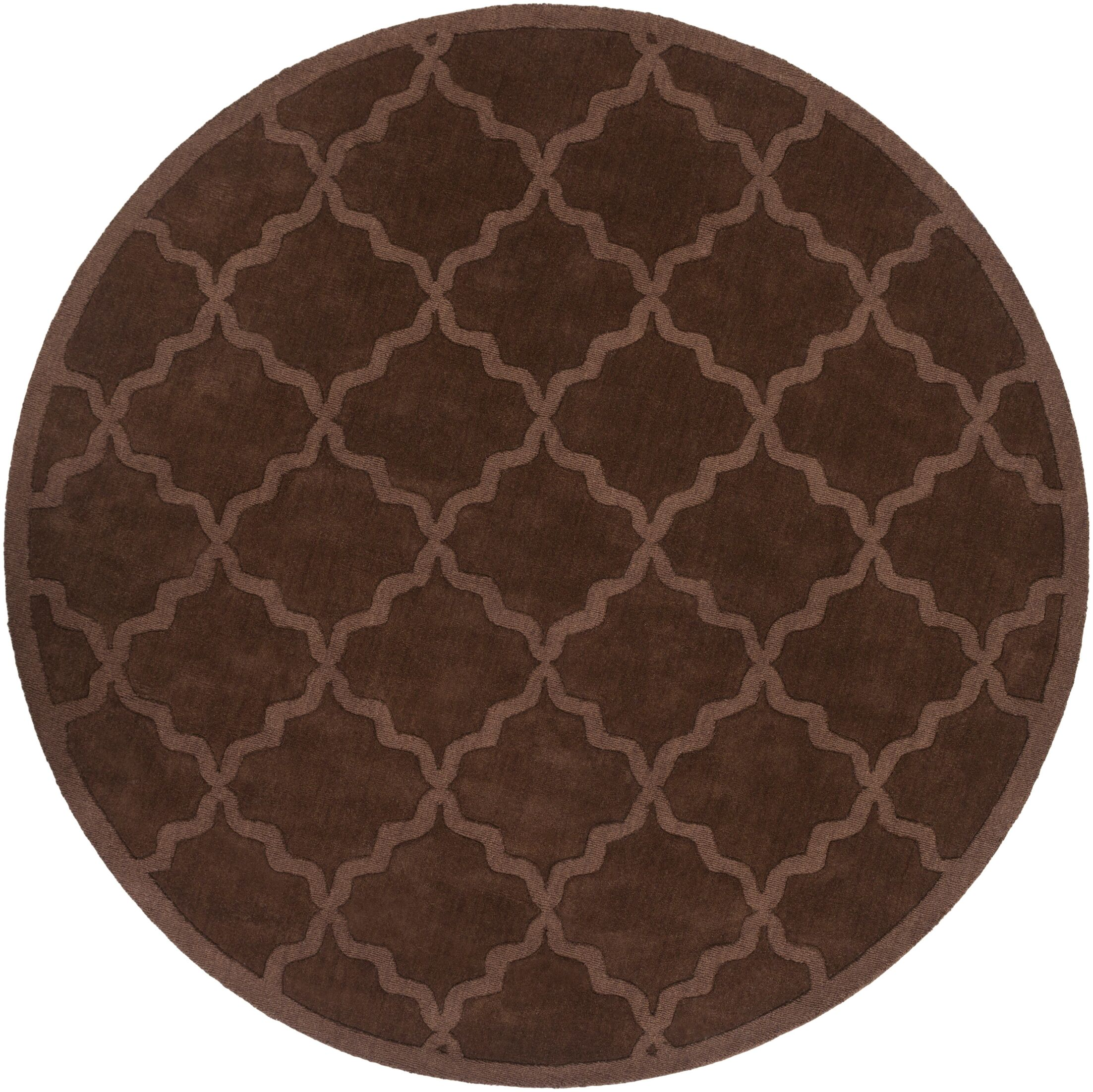Blankenship Brown Geometric Abbey Area Rug Rug Size: Round 7'9