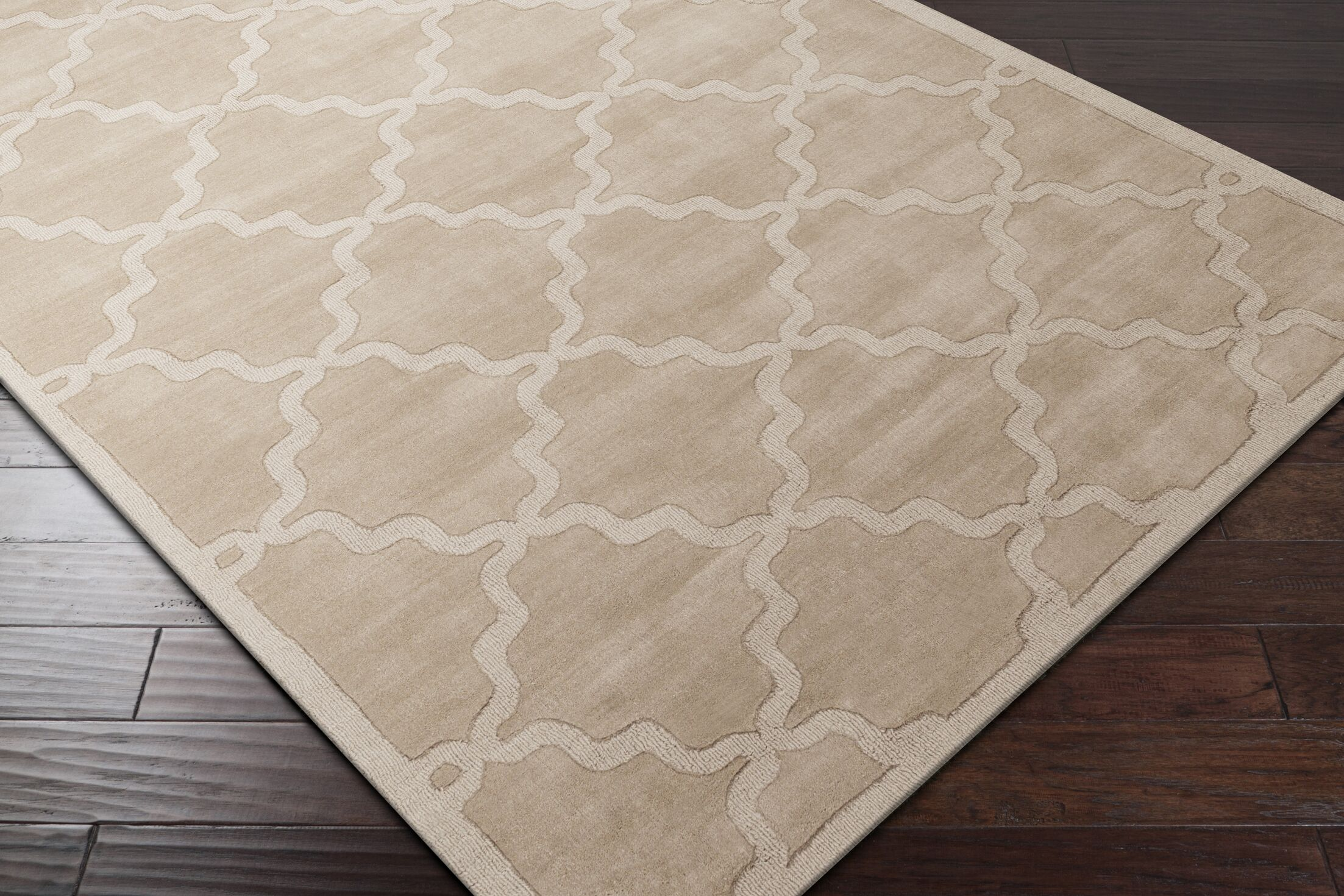 Blankenship Tan Geometric Abbey Area Rug Rug Size: Rectangle 6' x 9'