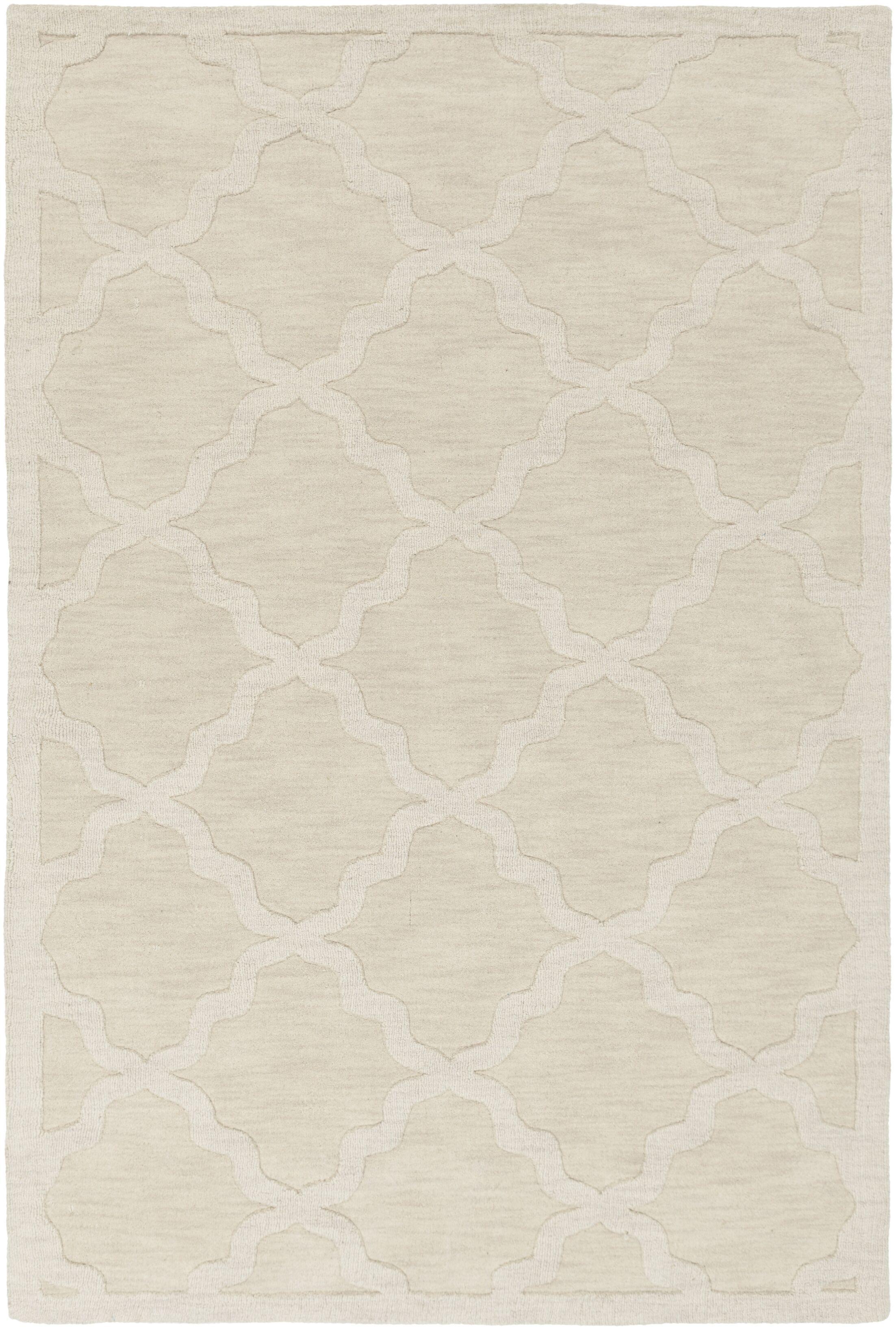 Blankenship Hand-Woven Wool Beige Area Rug Rug Size: Rectangle 6' x 9'
