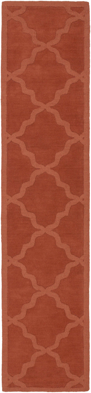 Blankenship Red Geometric Abbey Area Rug Rug Size: Runner 2'3