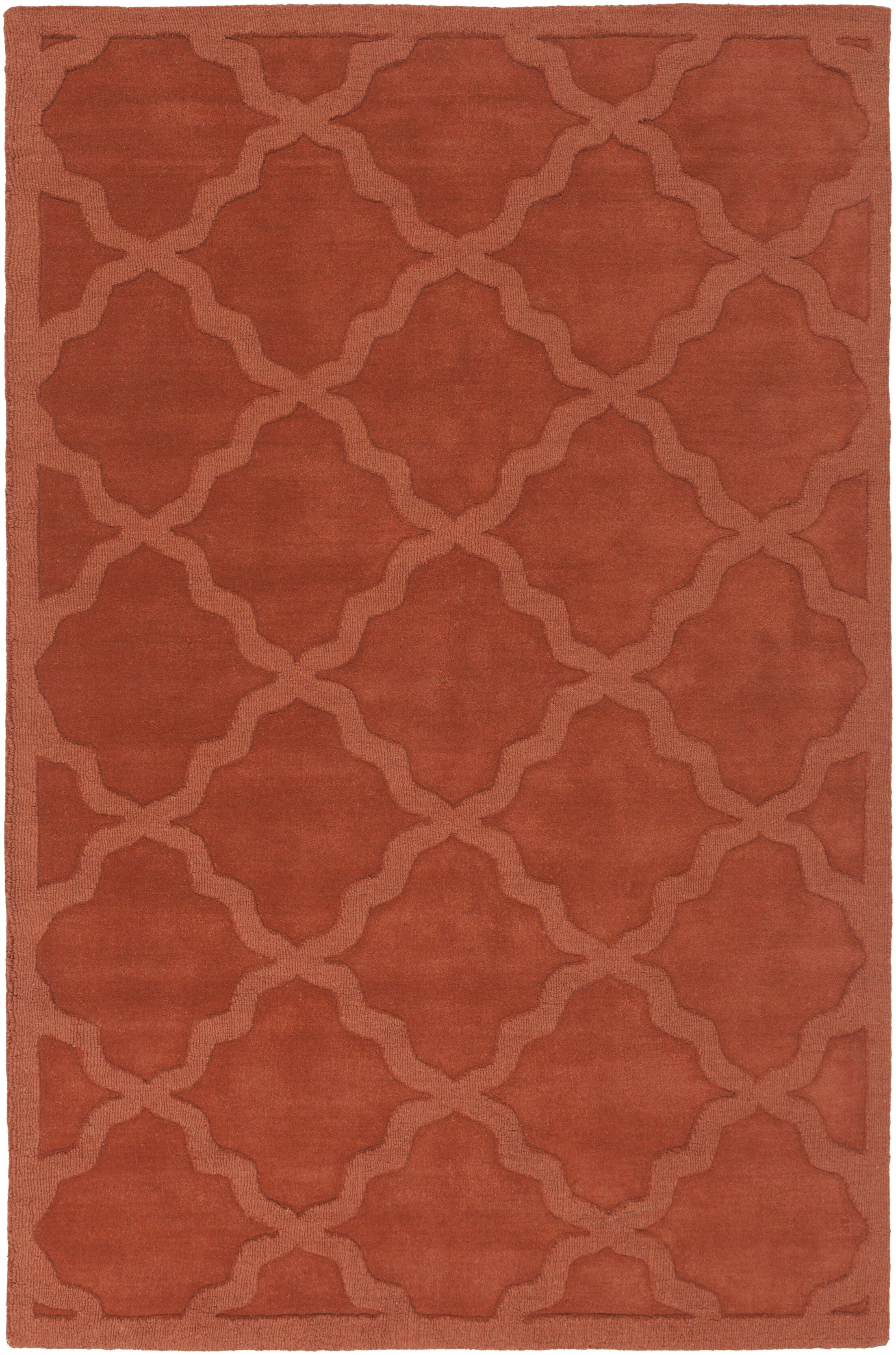 Blankenship Red Geometric Abbey Area Rug Rug Size: Rectangle 9' x 12'