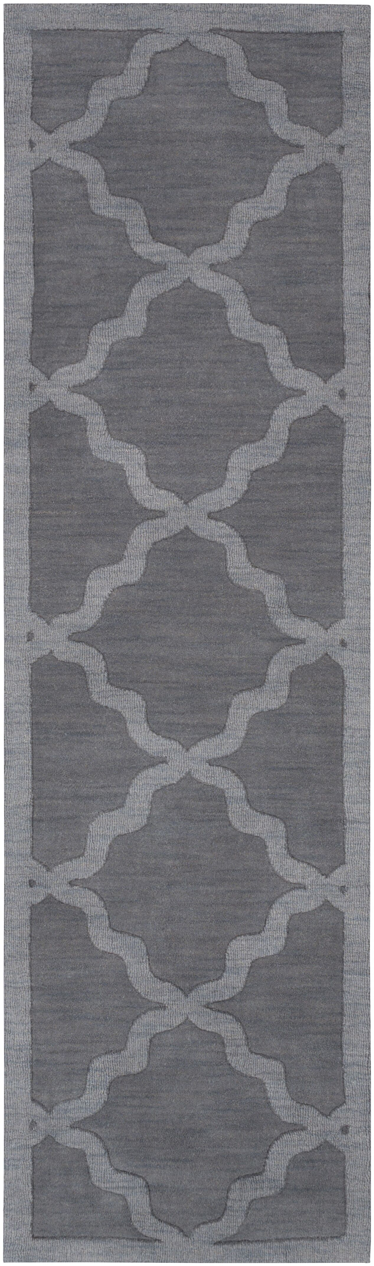 Blankenship Hand-Woven Charcoal Area Rug Rug Size: Runner 2'3