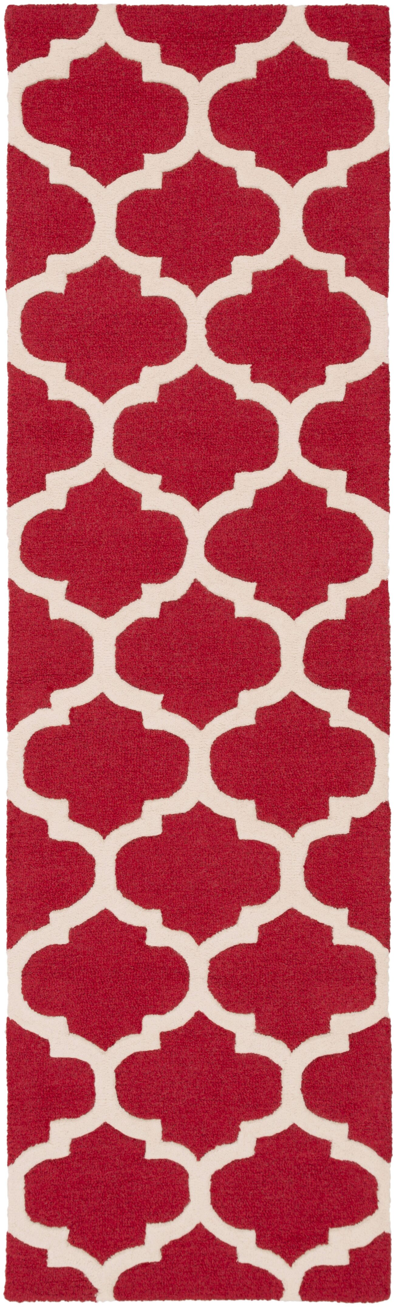 Blaisdell Red Geometric Stella Area Rug Rug Size: Runner 2'3