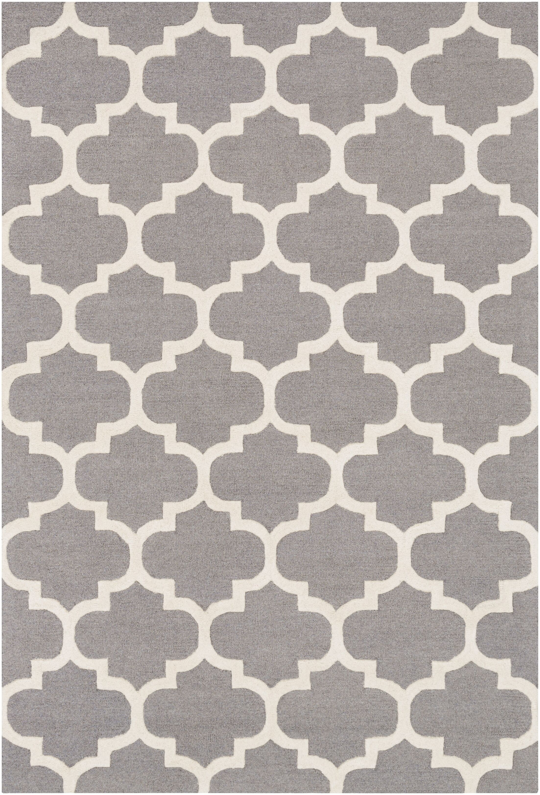 Blaisdell Hand-Woven Gray Area Rug Rug Size: Rectangle 4' x 6'