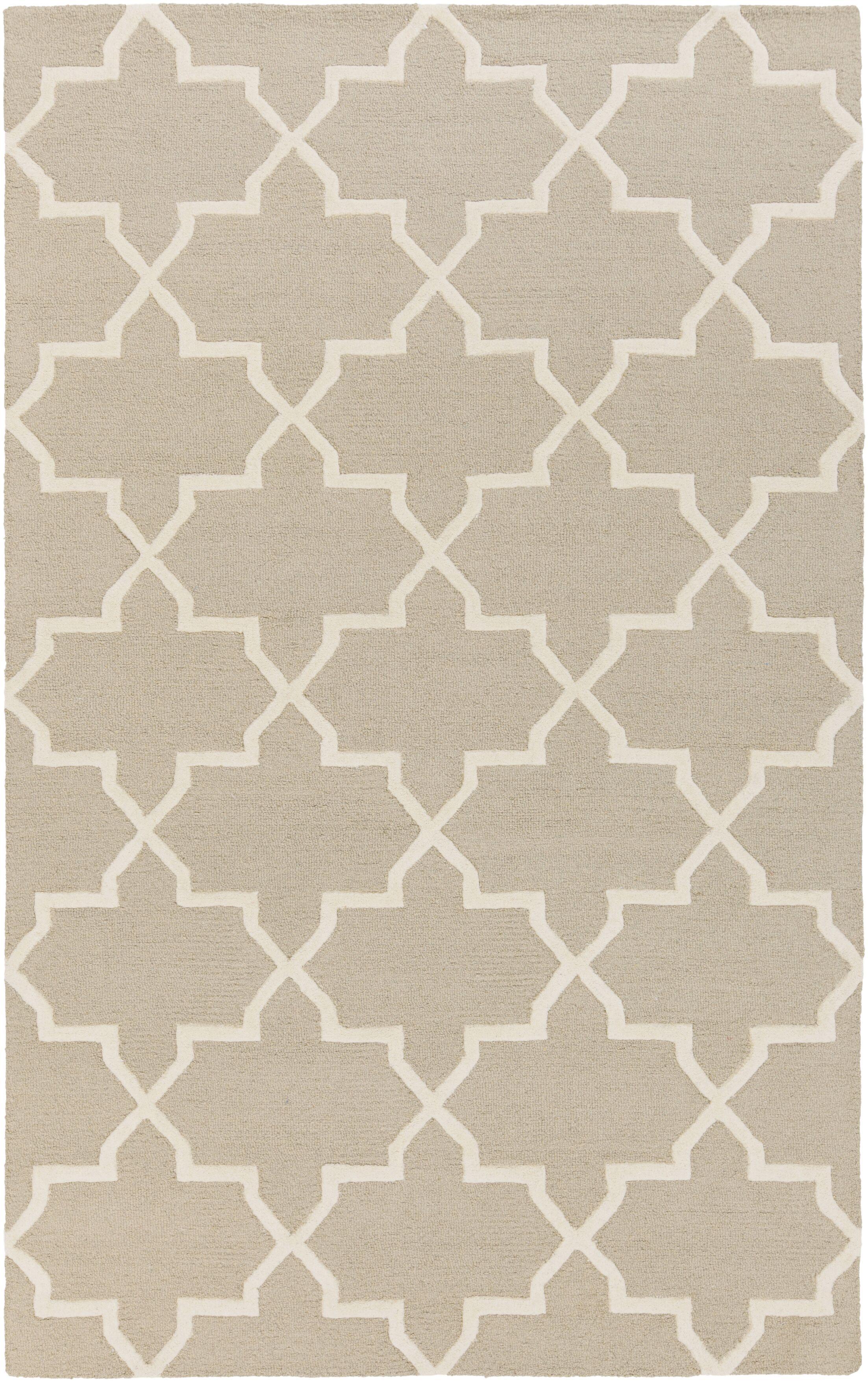 Blaisdell Beige Geometric Keely Area Rug Rug Size: Rectangle 6' x 9'