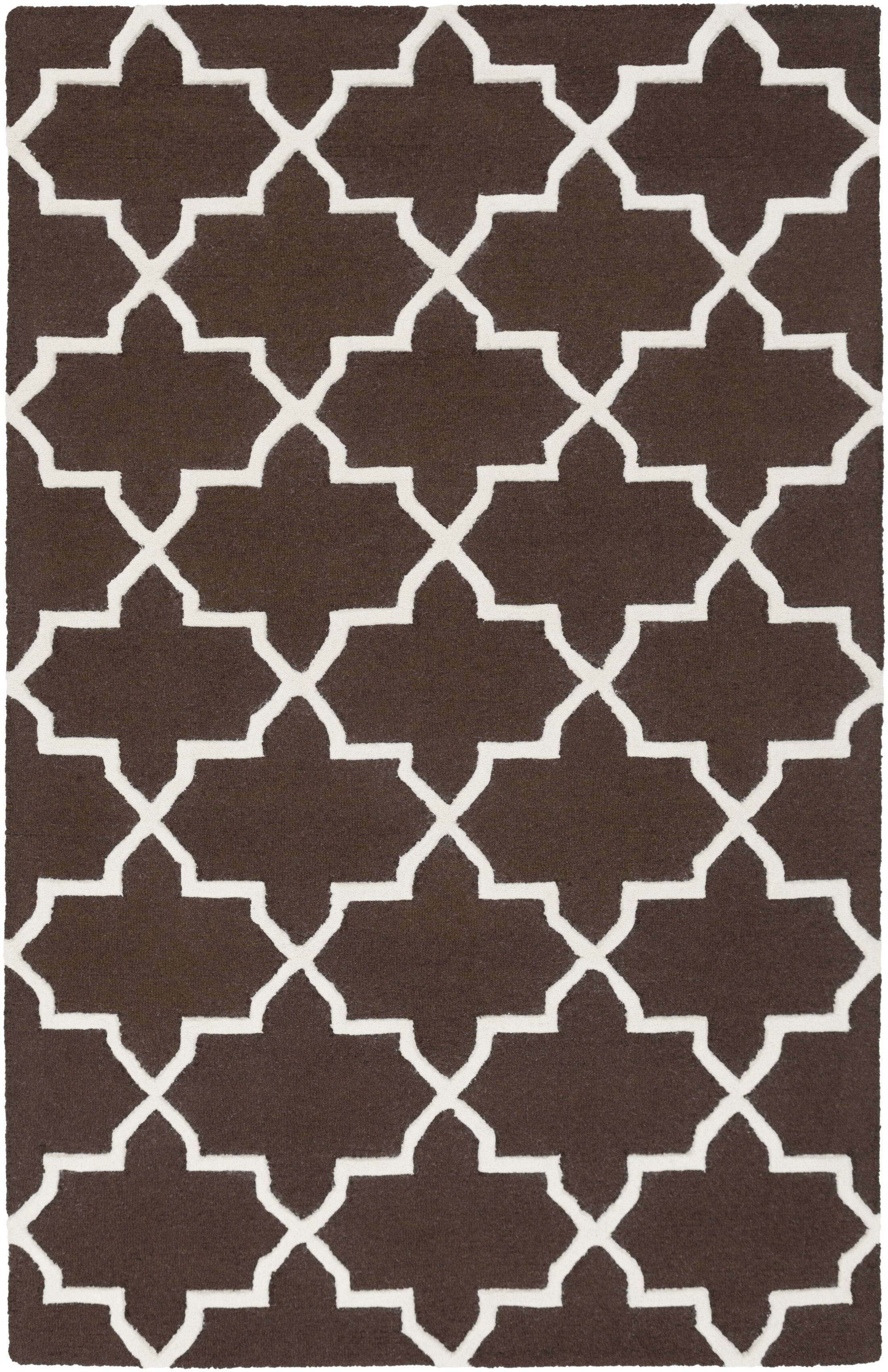 Blaisdell Brown Geometric Keely Area Rug Rug Size: Rectangle 5' x 8'