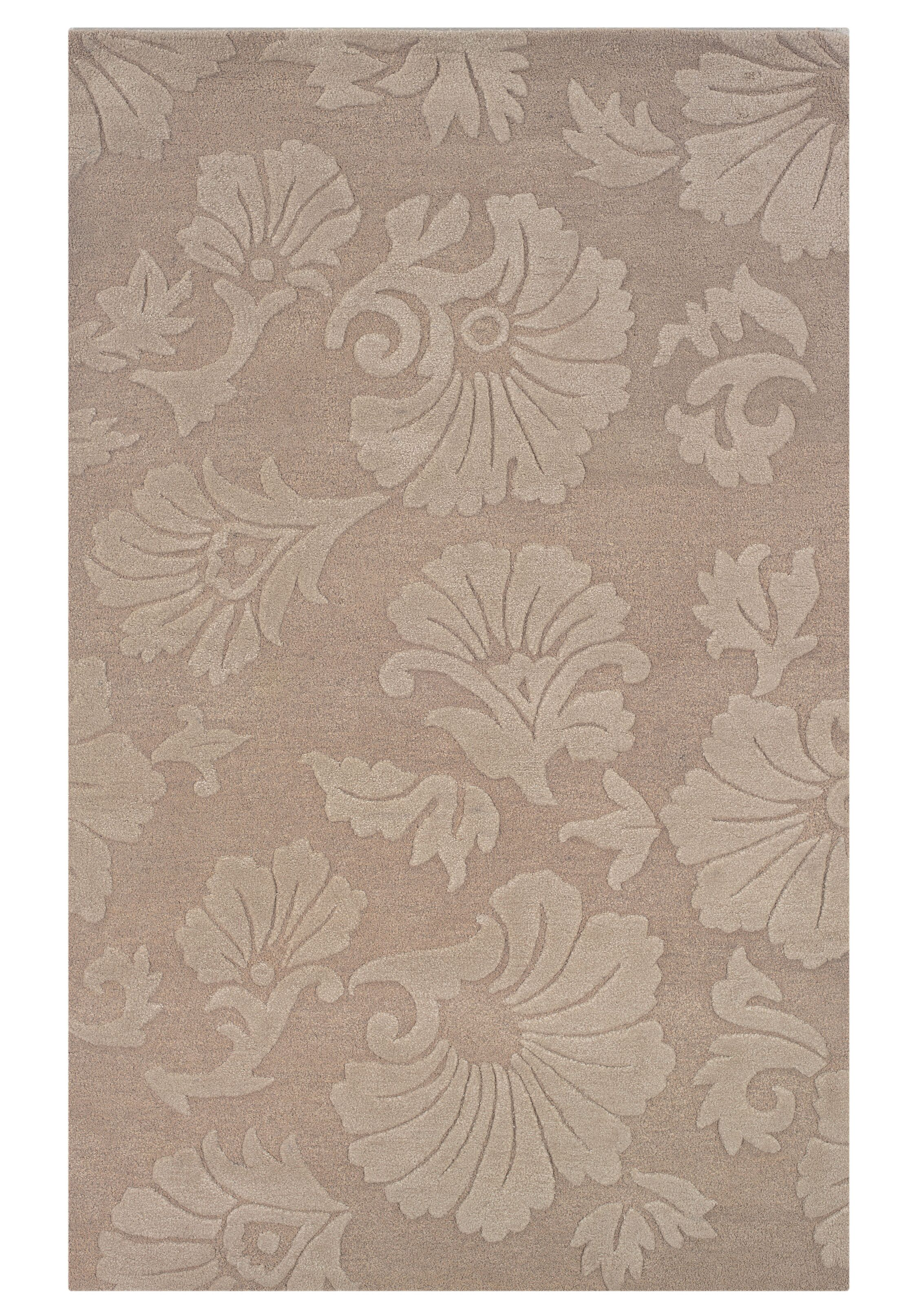 Goodrum Hand-Tufted Beige Area Rug Rug Size: Rectangle 5' x 8'
