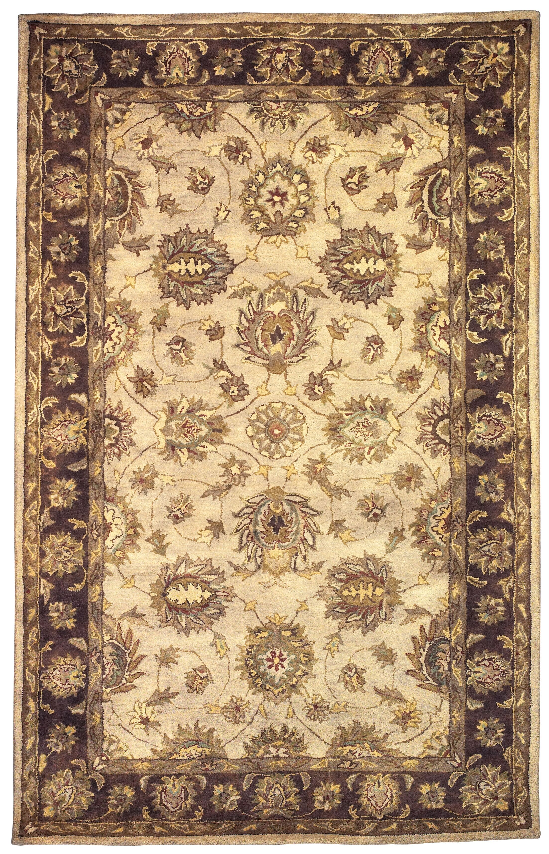 Gattis Hand-Tufted Beige/Brown Area Rug Rug Size: Rectangle 5' x 8'