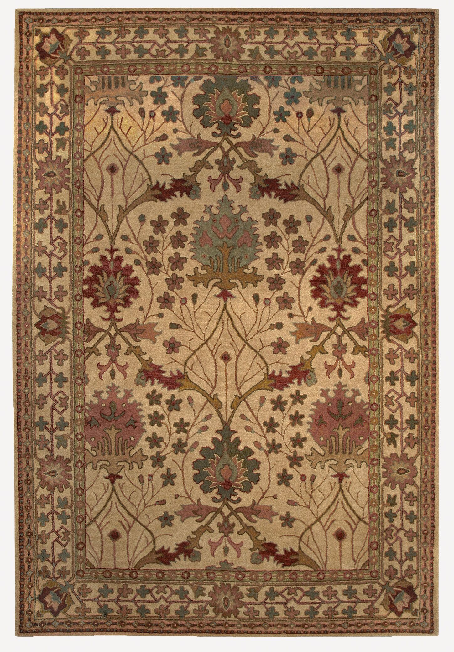 Gattis Hand-Tufted Beige Area Rug Rug Size: Rectangle 9' x 12'