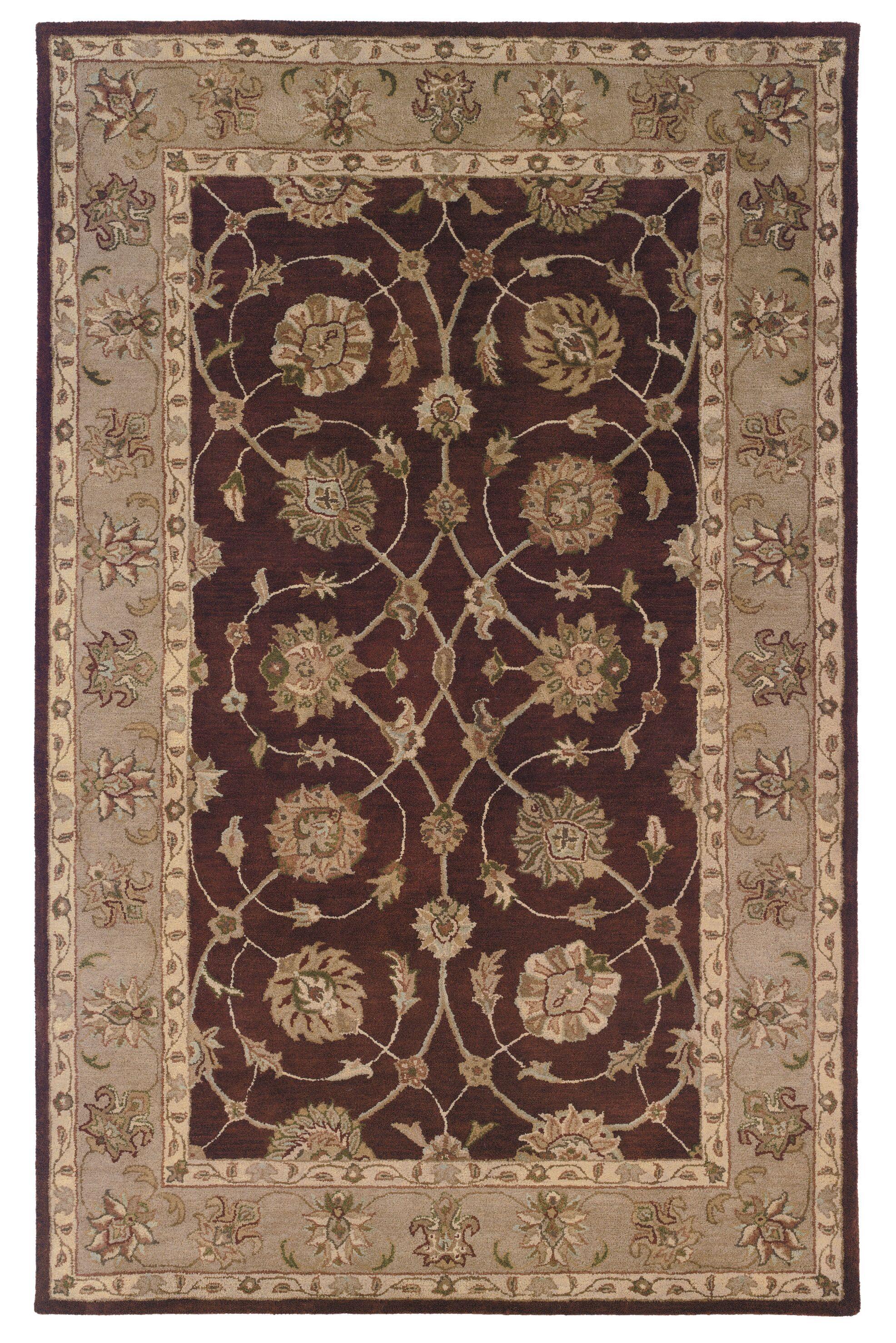 Gattis Hand-Tufted Brown/Beige Area Rug Rug Size: Rectangle 9' x 12'