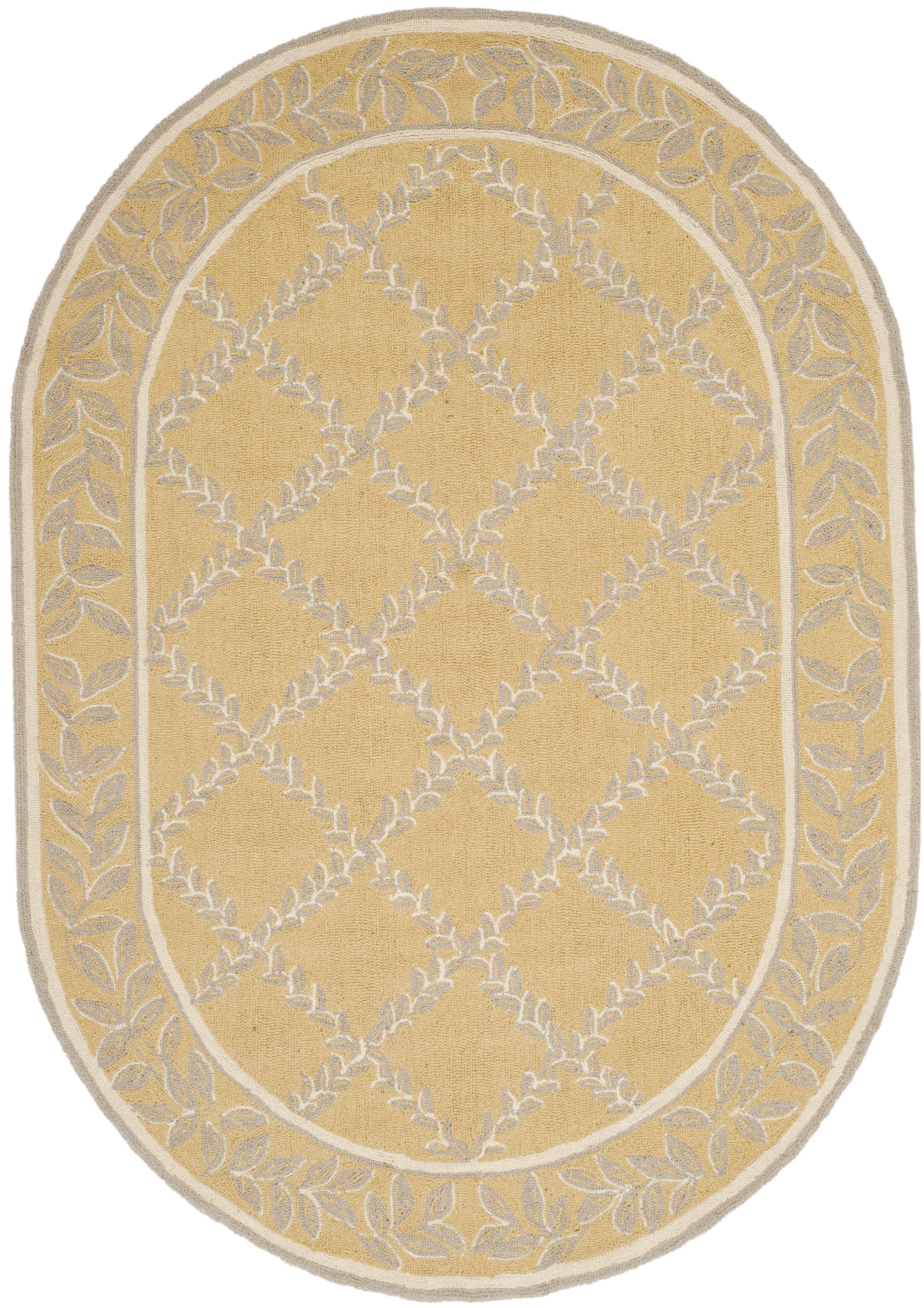 Helena Yellow/Grey Area Rug Rug Size: Rectangle 7'9