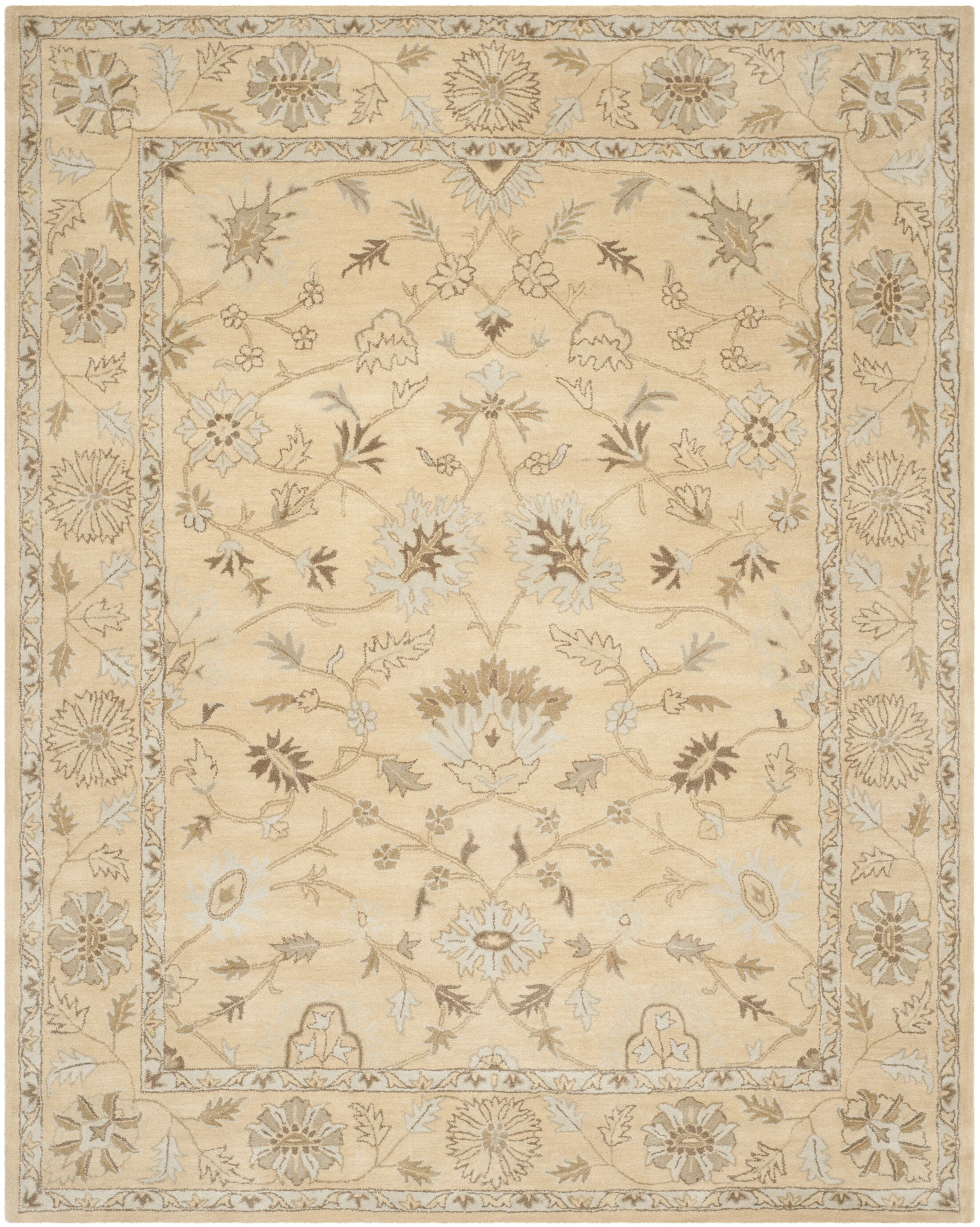 Colesberry Light Gold Area Rug Rug Size: Rectangle 8' x 10'