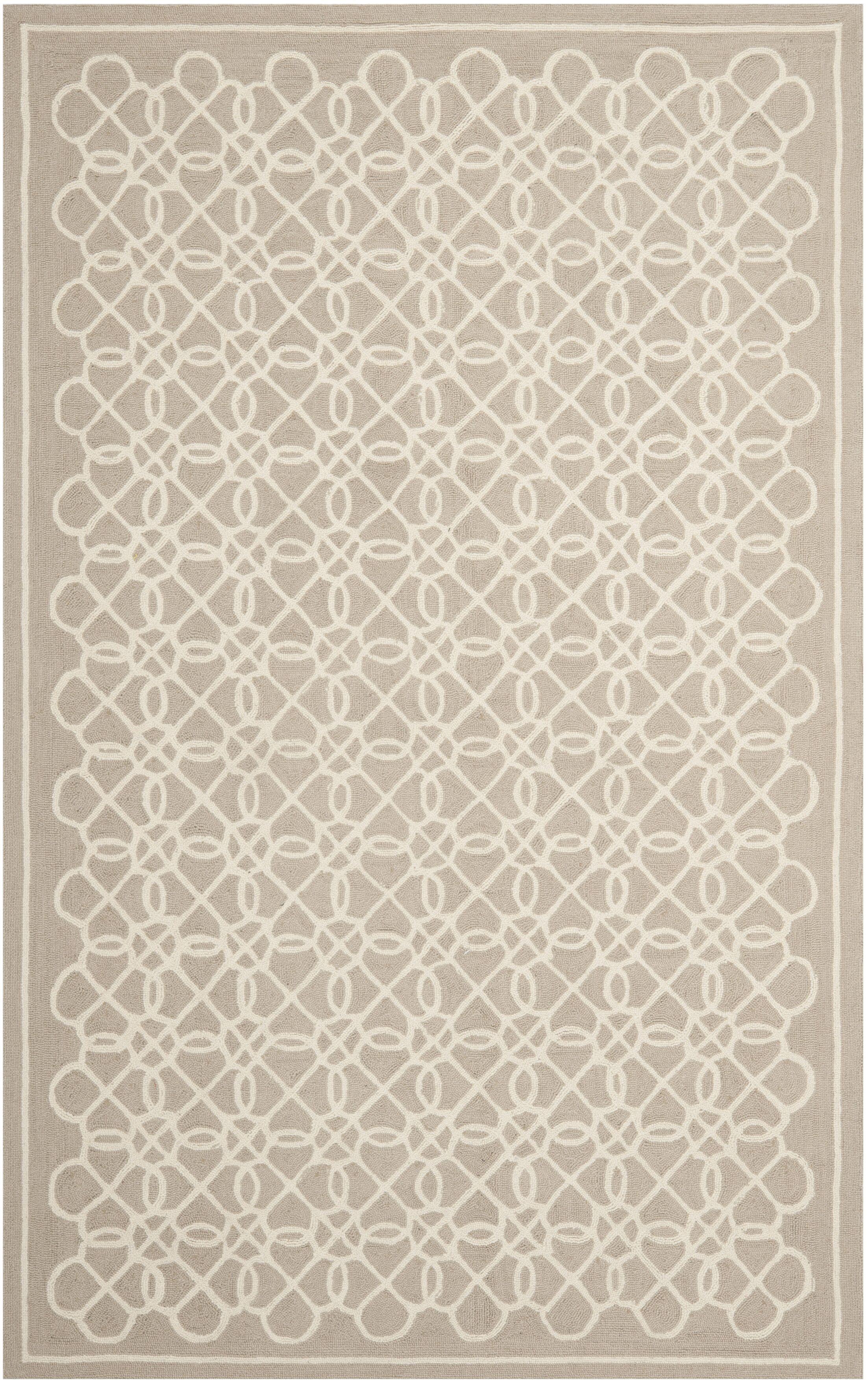 Helena Tan/Ivory Area Rug Rug Size: Rectangle 5'3