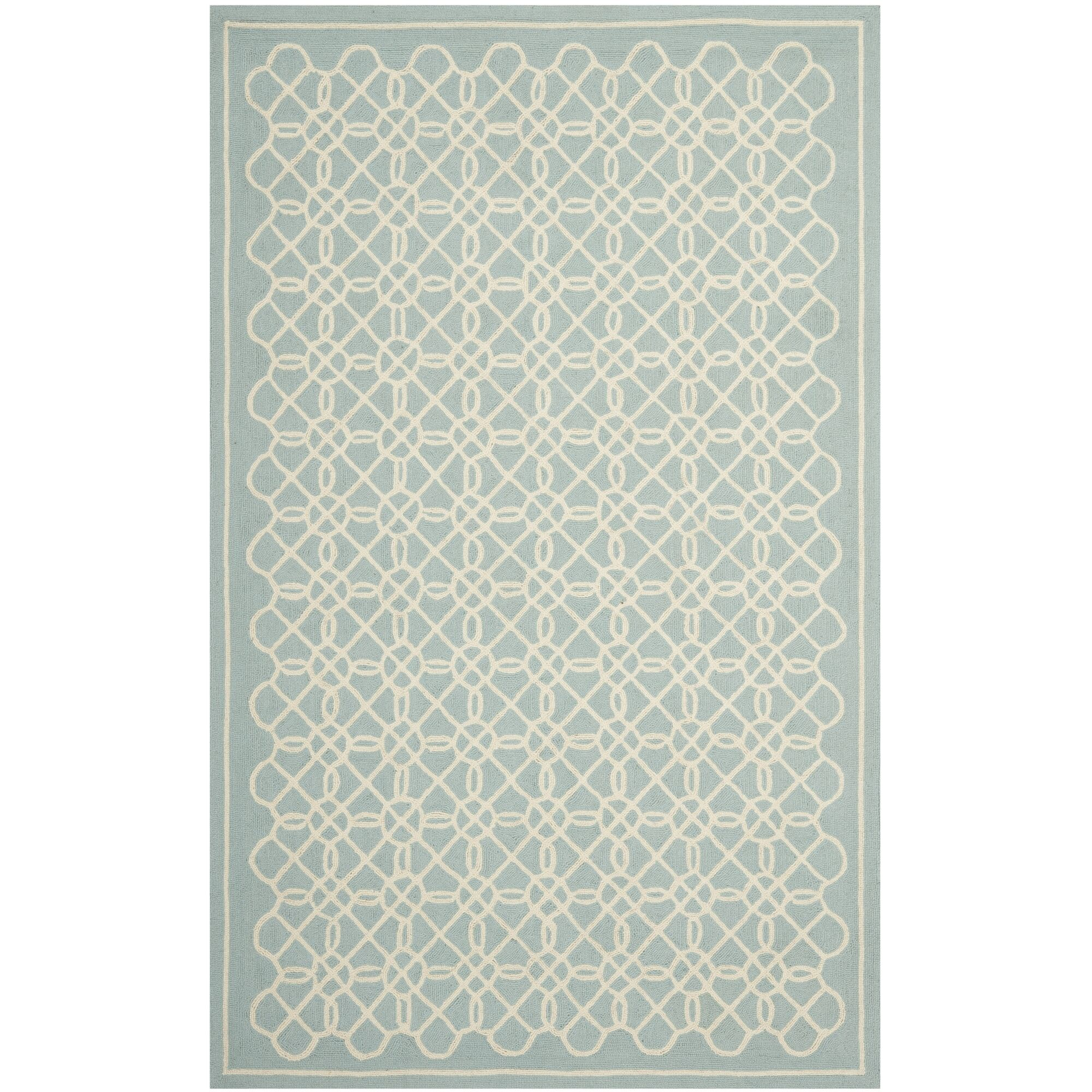 Helena Blue/Ivory Rug Rug Size: Rectangle 7'9