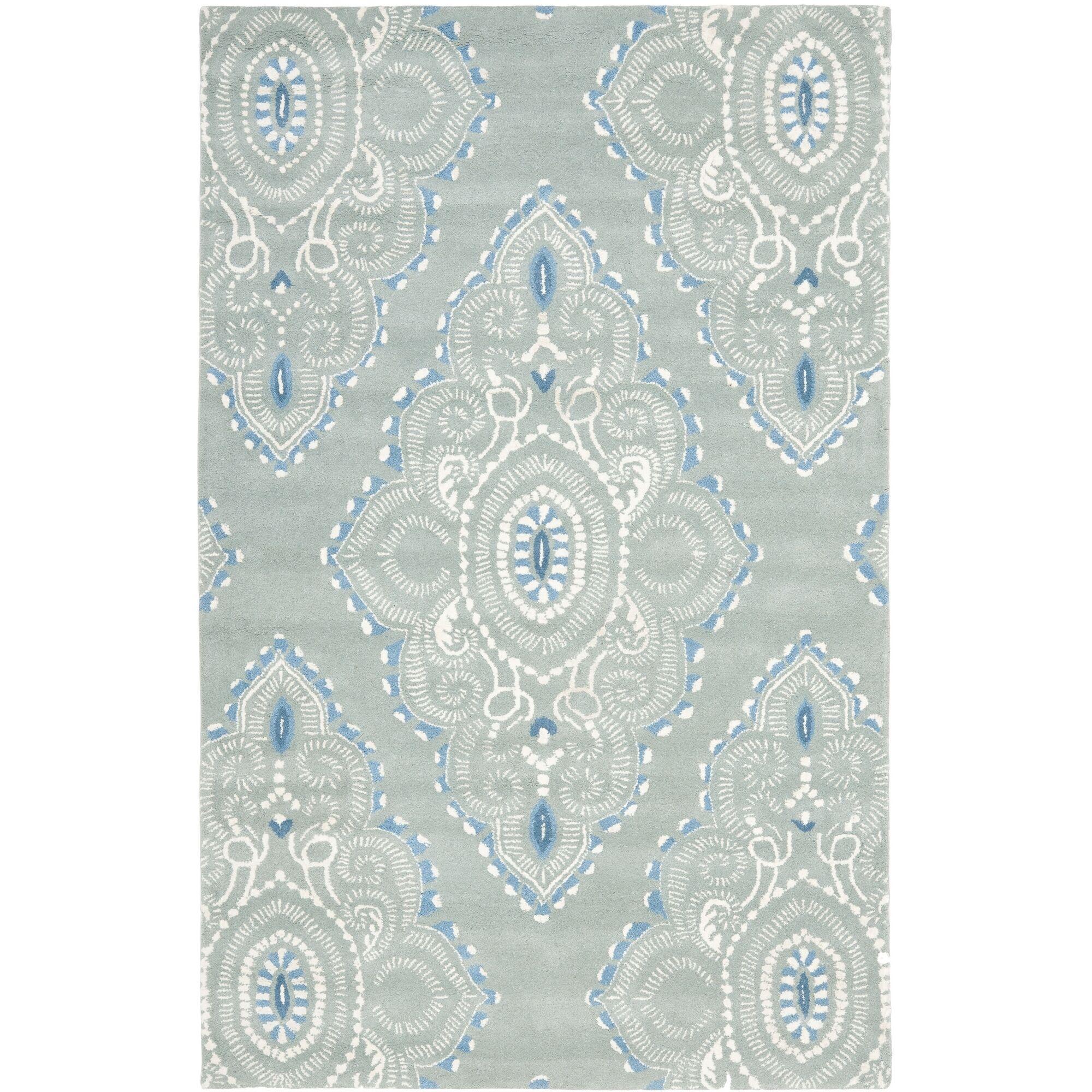 Colesberry Blue/Ivory Rug Rug Size: Rectangle 8' x 10'