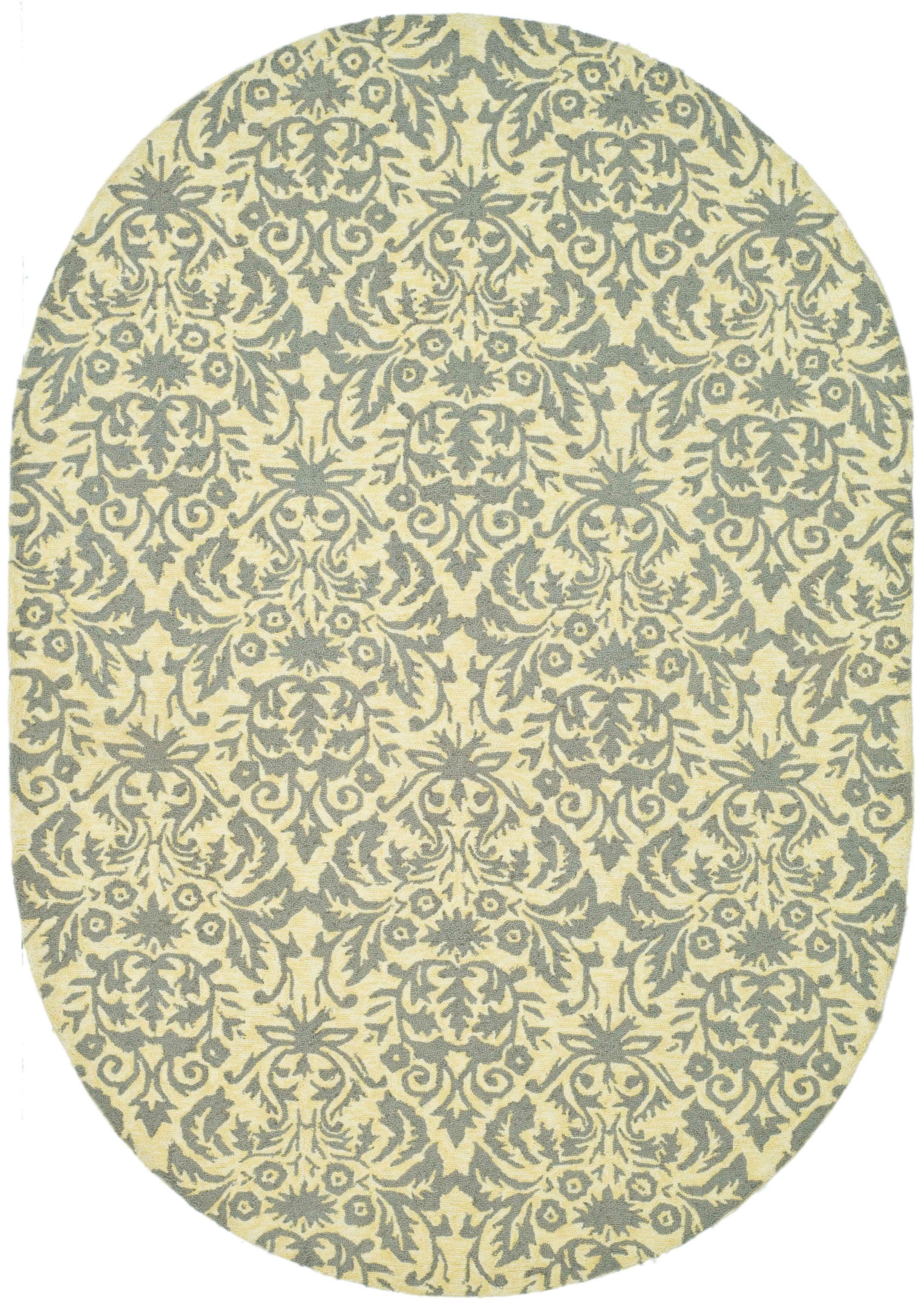 Helena Beige Yellow/Grey Area Rug Rug Size: Rectangle 7'9