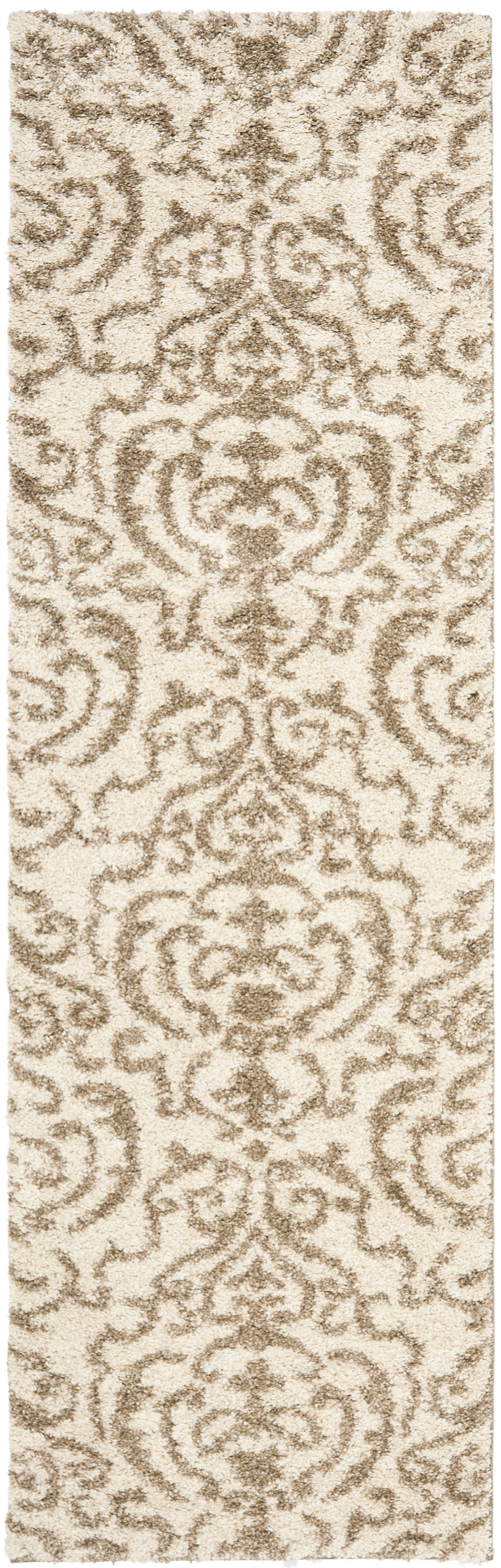 Hall Brown/Beige Area Rug Rug Size: 11' x 15'