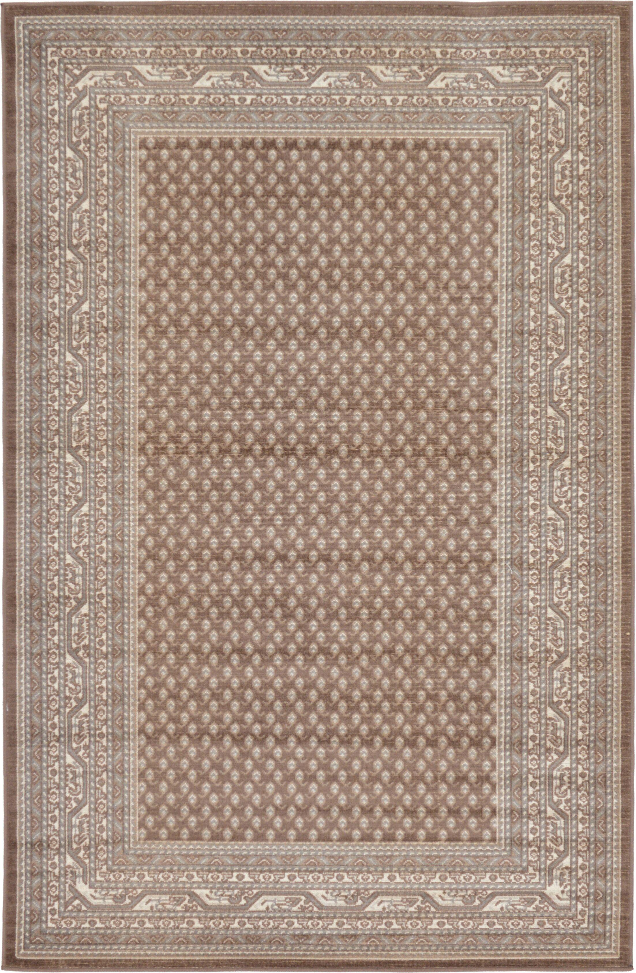 Gillam Brown Area Rug Rug Size: Rectangle 5' x 8'