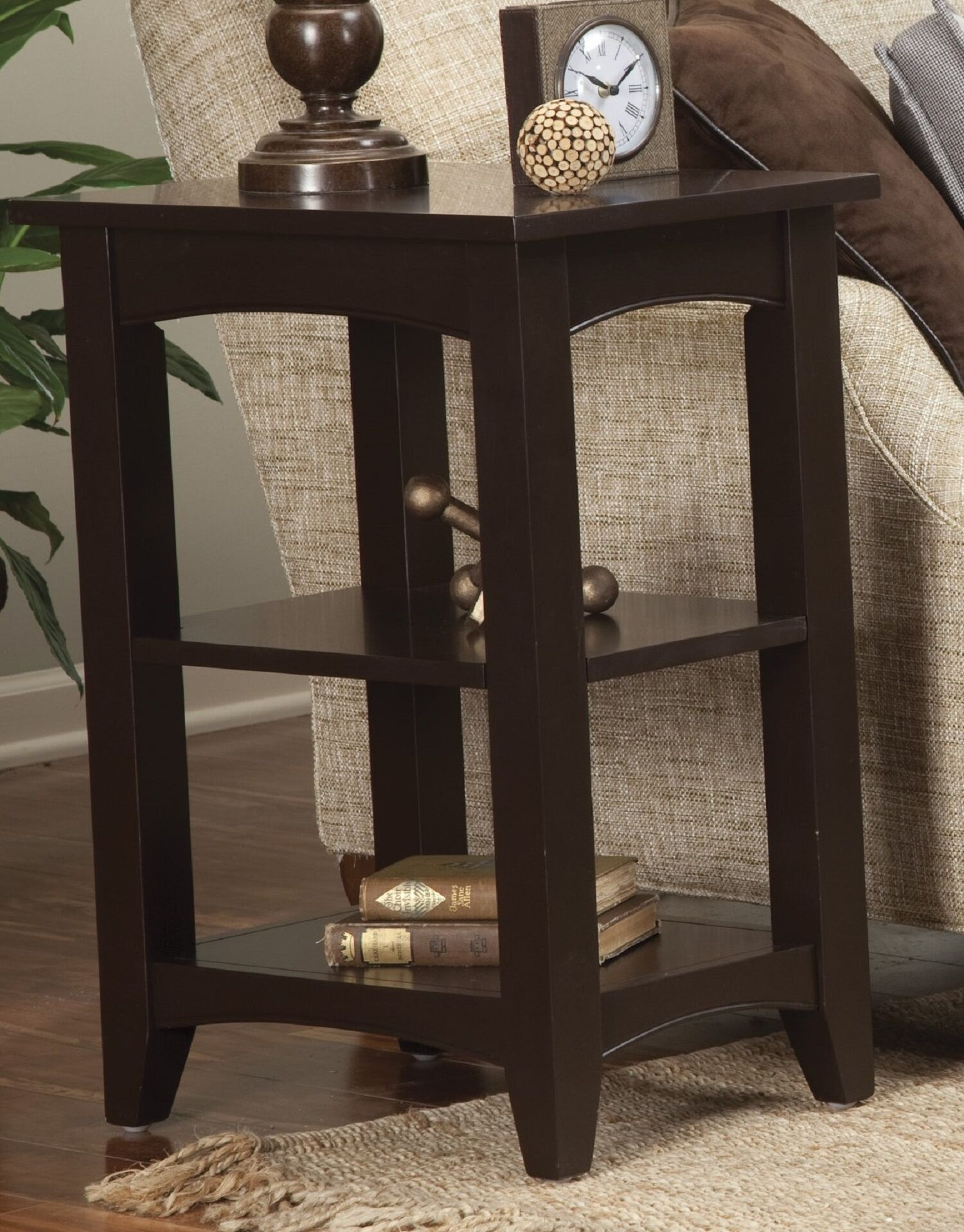 Shaker Cottage Birch Creek End Table Color: Chocolate