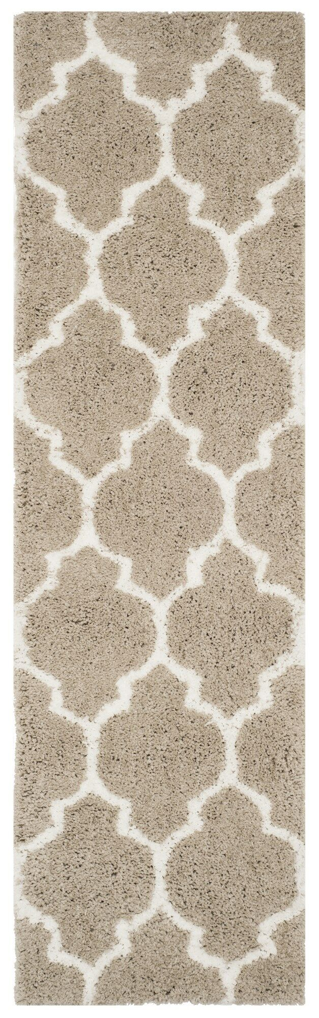 Parnassus Hand-Tufted Silver/Ivory Area Rug Rug Size: Runner 2'3