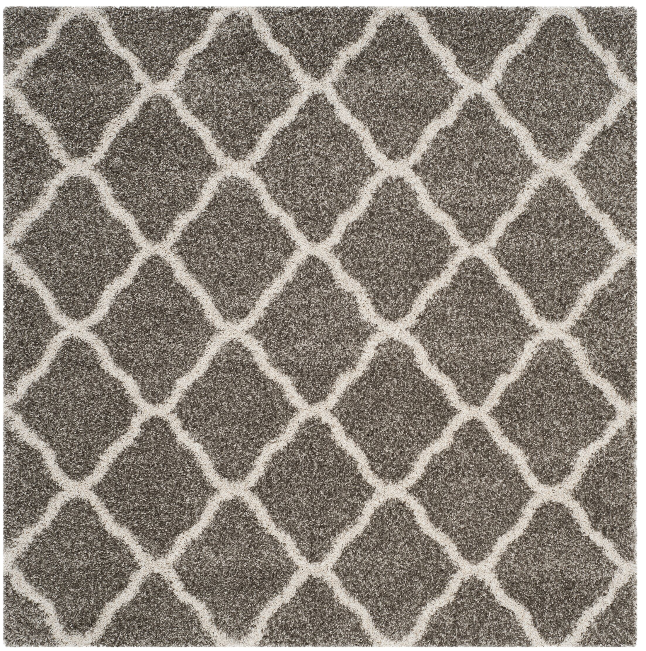 Buford Gray/Ivory Area Rug Rug Size: Square 7'