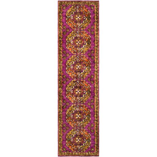 Robbins Lavender/Yellow Area Rug Rug Size: Runner 2'3