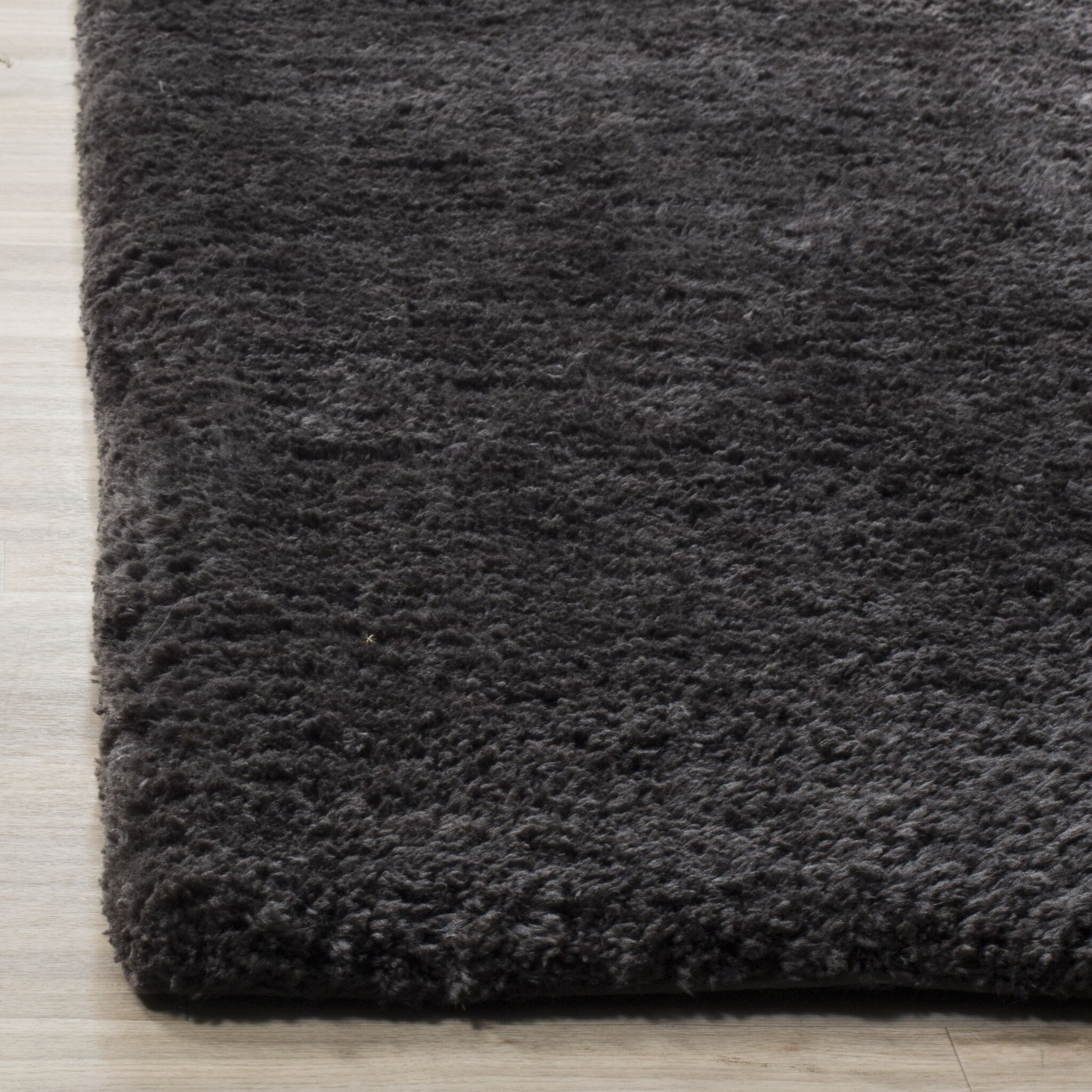 Detweiler Hand-Tufted Charcoal Area Rug Rug Size: Rectangle 5' x 8'