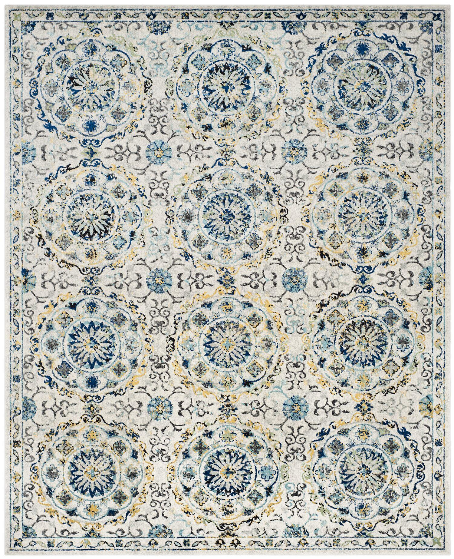 Ameesha Ivory Area Rug Rug Size: Rectangle 8' x 10'