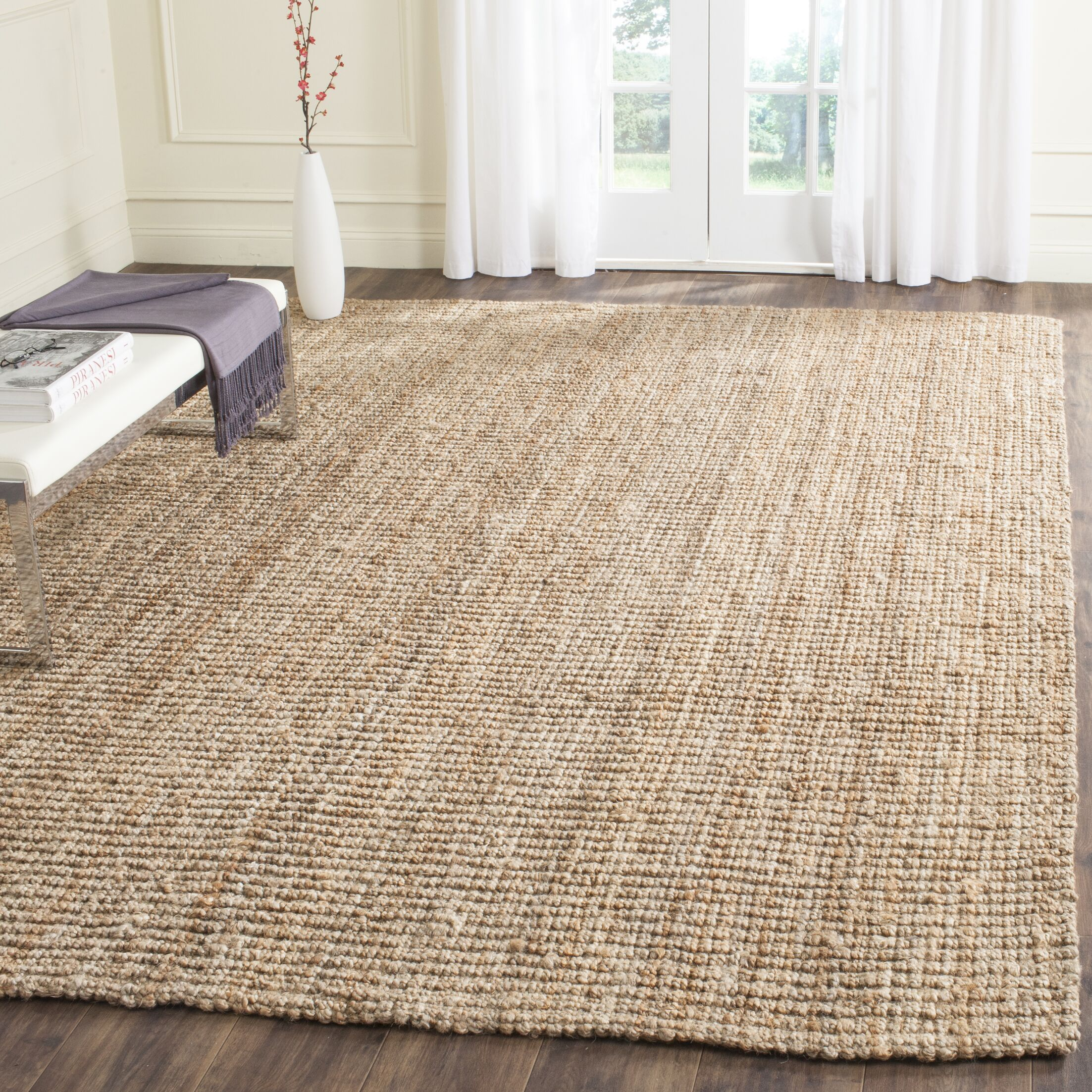 Gaines Power Loom Natural Area Rug Rug Size: Rectangle 9' x 12'