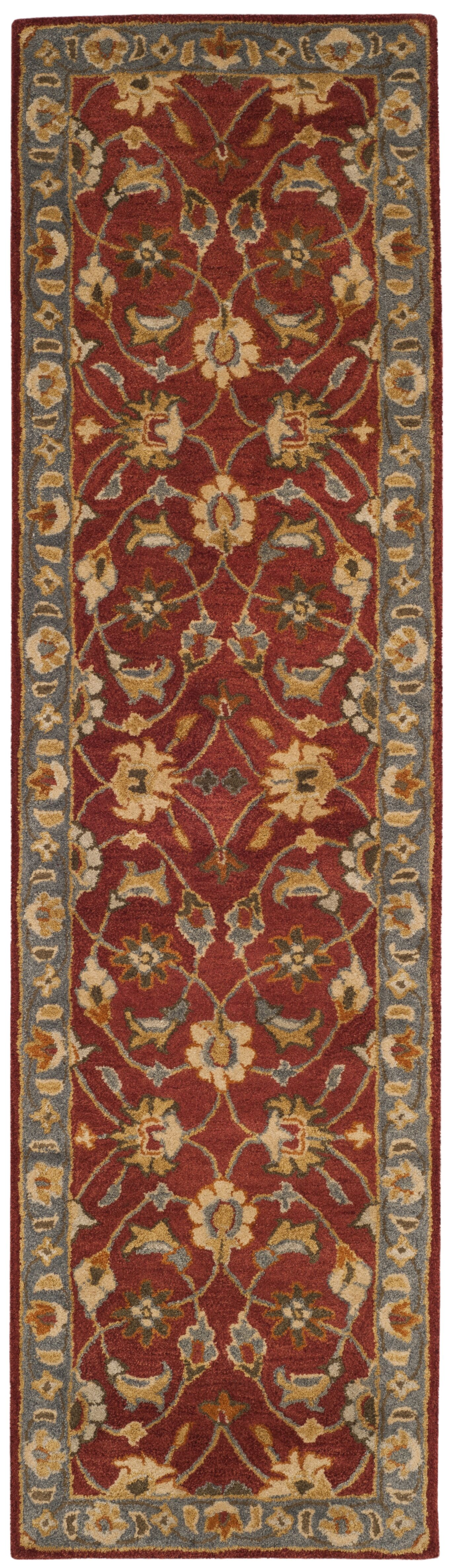 Cranmore Hand-Tufted Red/Blue Area Rug Rug Size: Runner 2'3