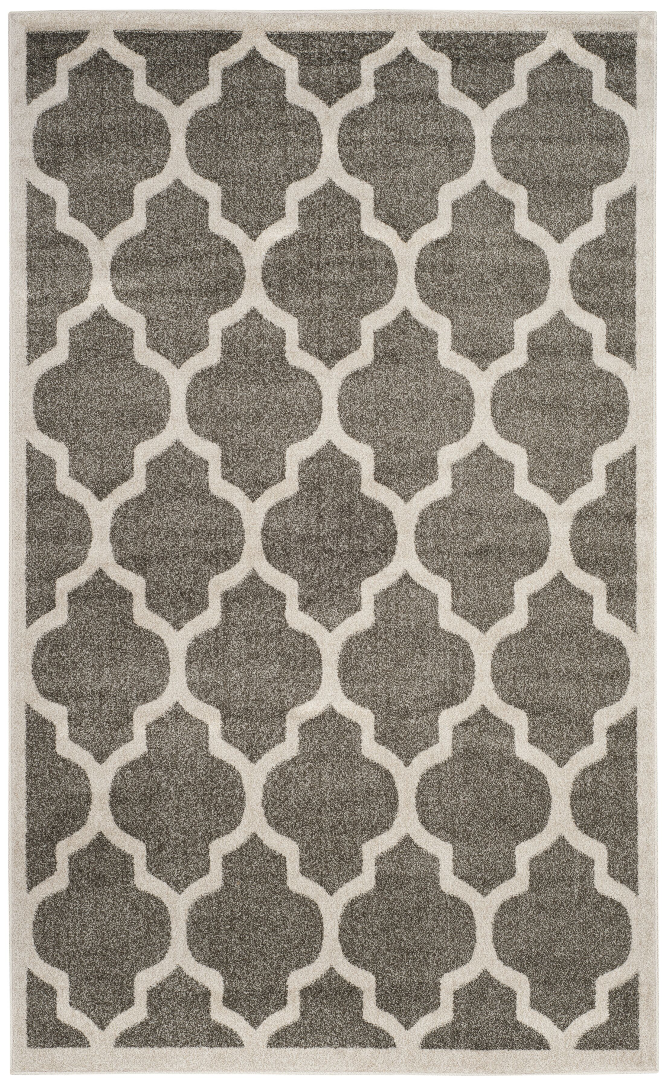 Carman Gray/Beige Indoor/Outdoor Area Rug Rug Size: Rectangle 6' x 9'