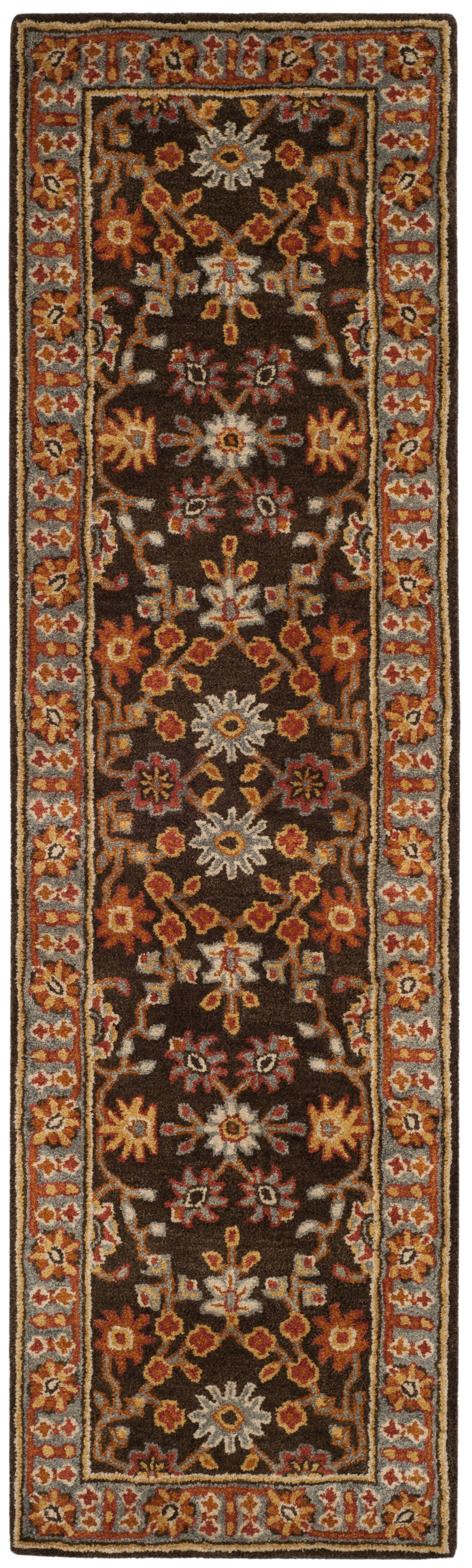 Cranmore Hand-Tufted Brown/Blue Area Rug Rug Size: Runner 2'3