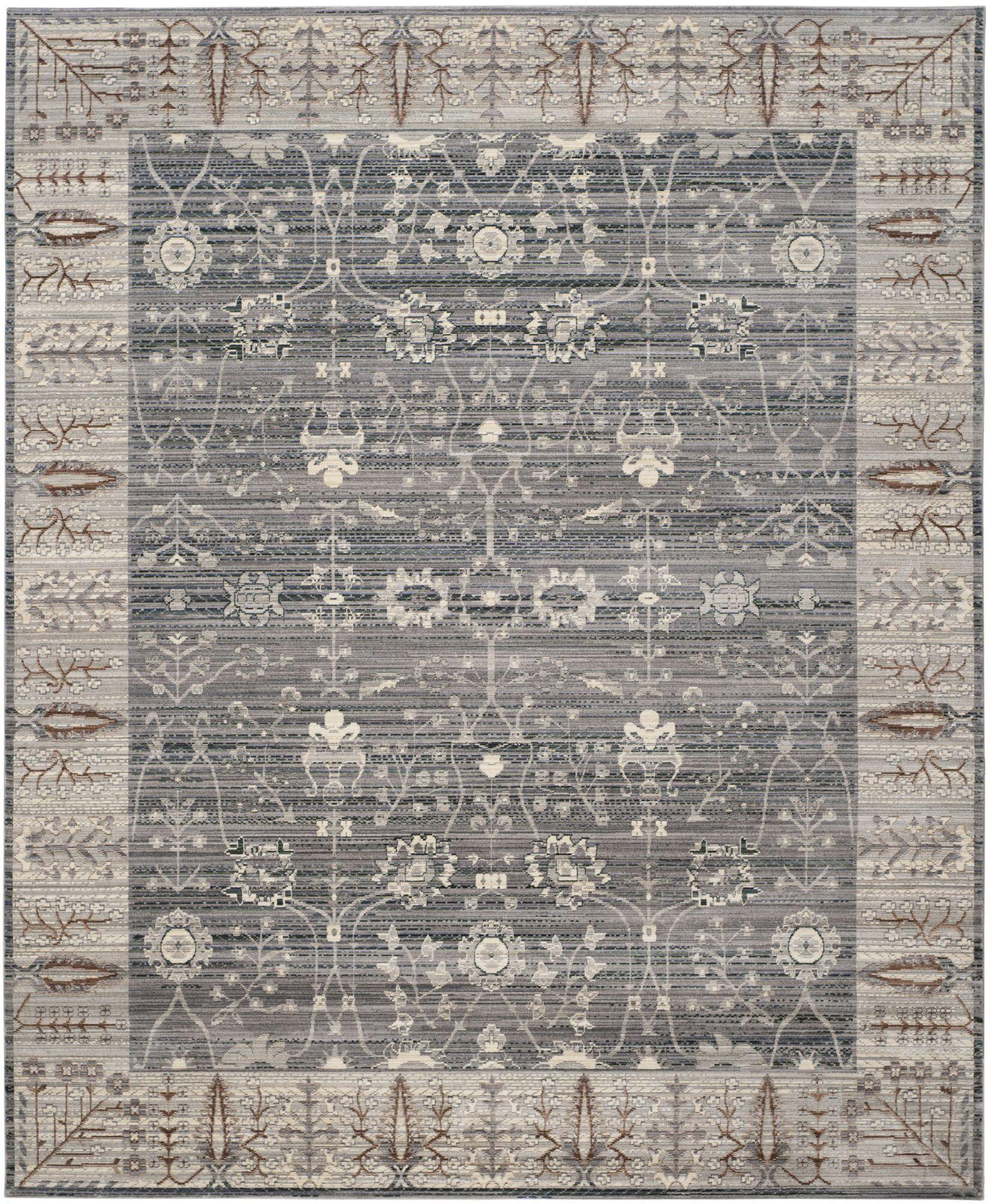 Filton Dark Gray/Light Gray Area Rug Rug Size: Rectangle 8' x 10'