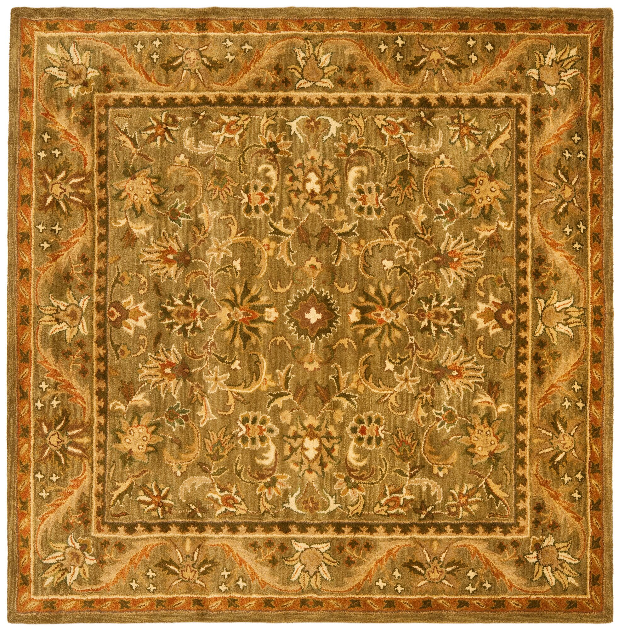 Dunbar Hand Woven Brown Indoor Area Rug Rug Size: Square 6'