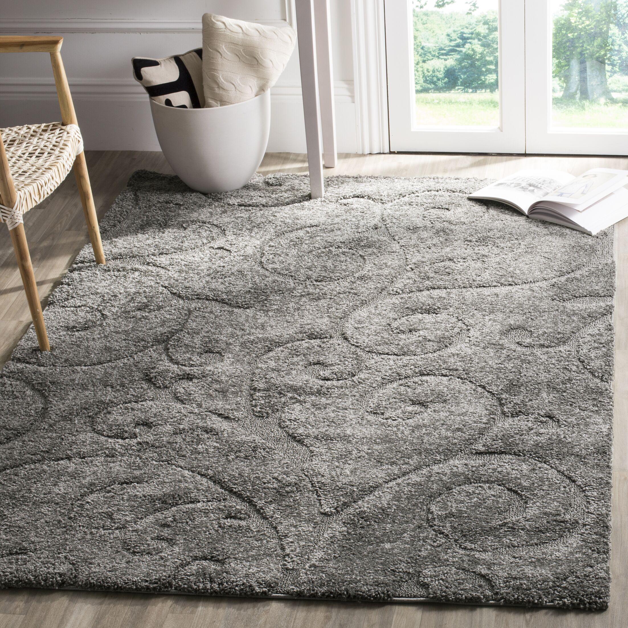 Biller Swirl Gray/Beige Area Rug Rug Size: Rectangle 4' x 6'